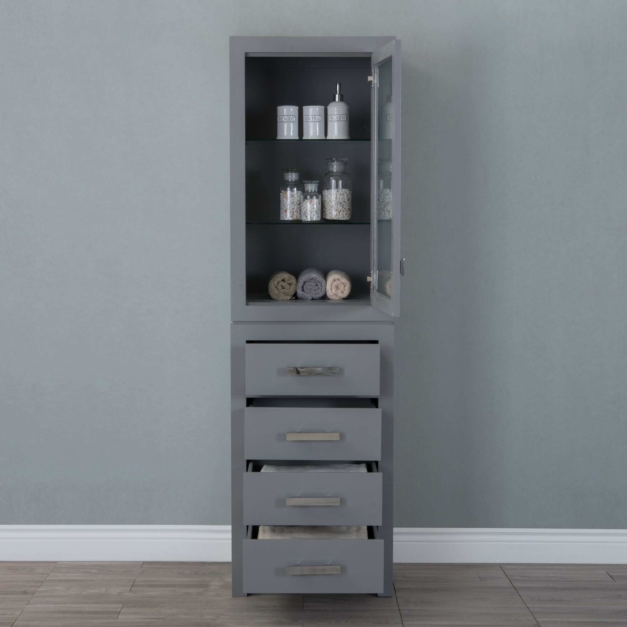 Madison Collection Linen Cabinet In Cashmere Grey Free Shipping Today 22381024