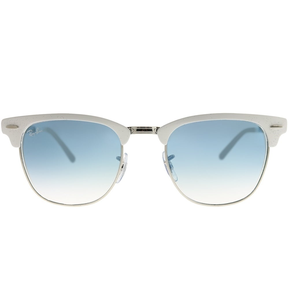 c1c3b6536a8 Shop Ray-Ban Clubmaster RB 3716 Clubmaster Metal 90883F Unisex White on Silver  Frame Blue Gradient Lens Sunglasses - Free Shipping Today - Overstock - ...