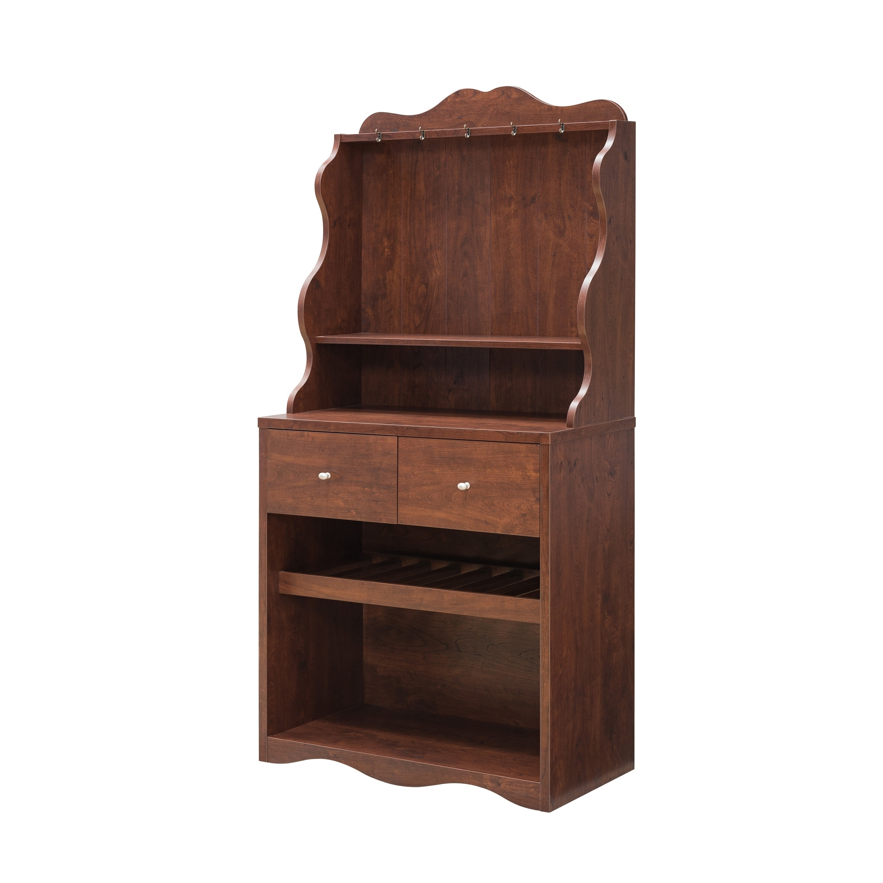Shop Furniture Of America Melliers Rustic Kitchen Cabinet With Wine