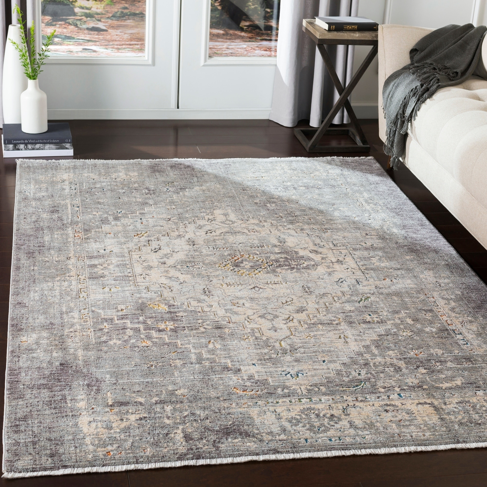 Jamison Distressed Traditional Area Rug Overstock 24076760