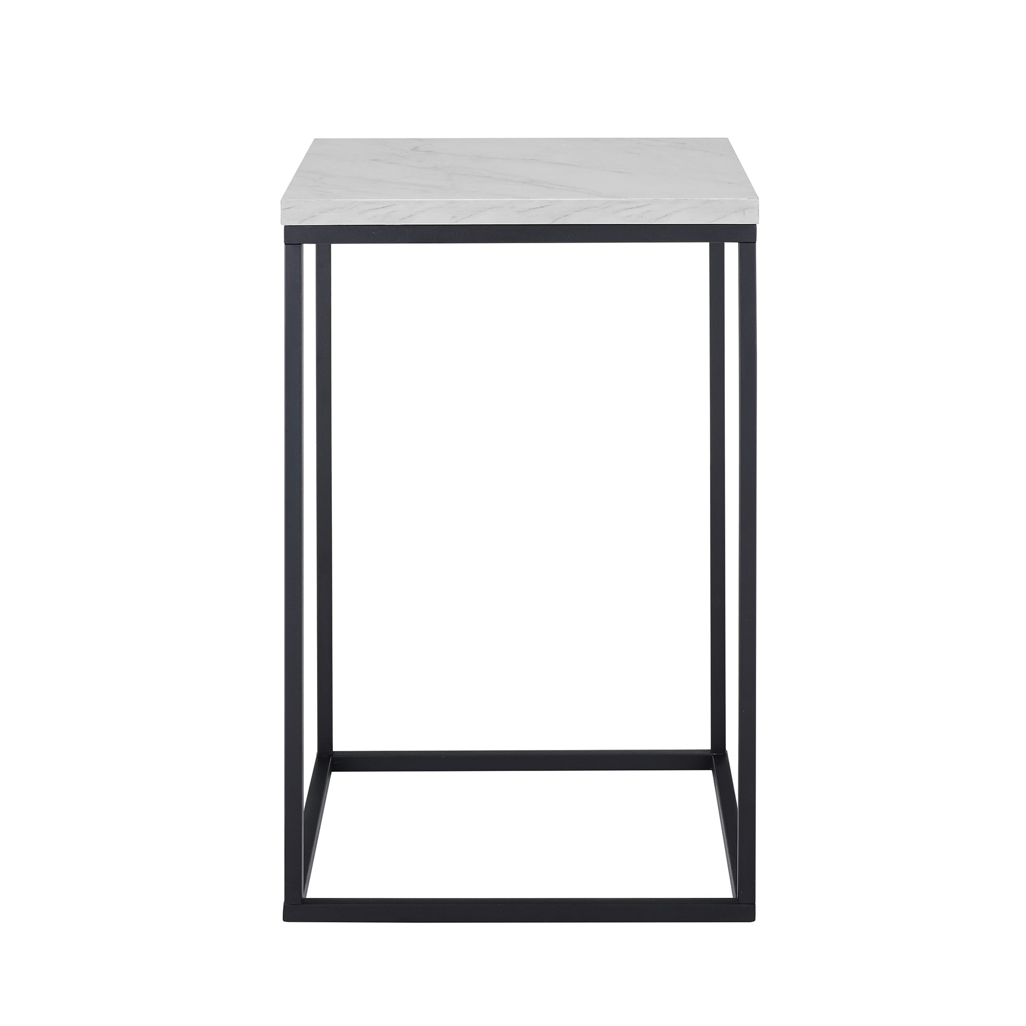Shop Urban Industrial Inch Side Table Faux Marble Concrete On - Industrial concrete side table