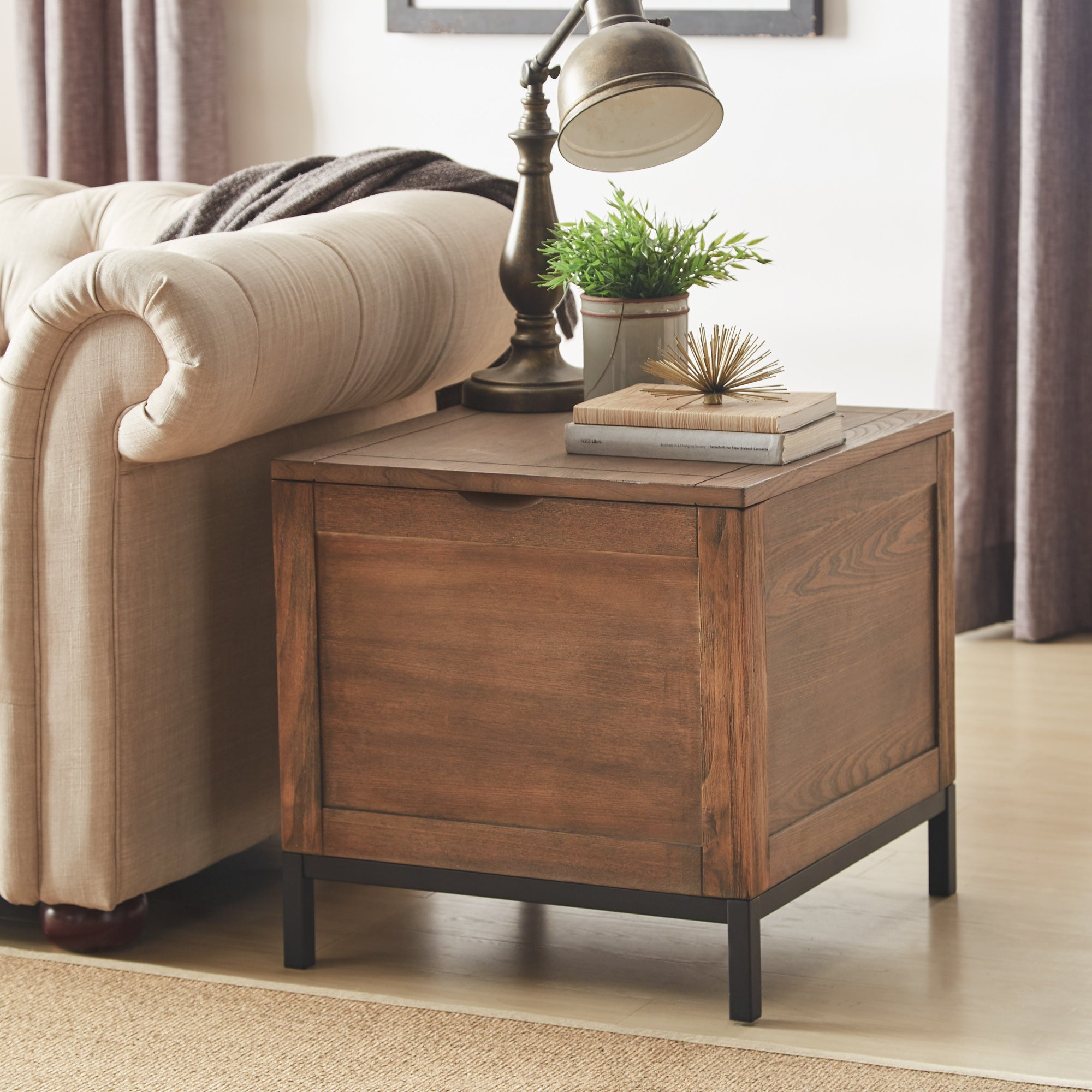 Shop Shay Storage Trunk End Table With Removeable Tray By INSPIRE Q Artisan    On Sale   Free Shipping Today   Overstock.com   22408055
