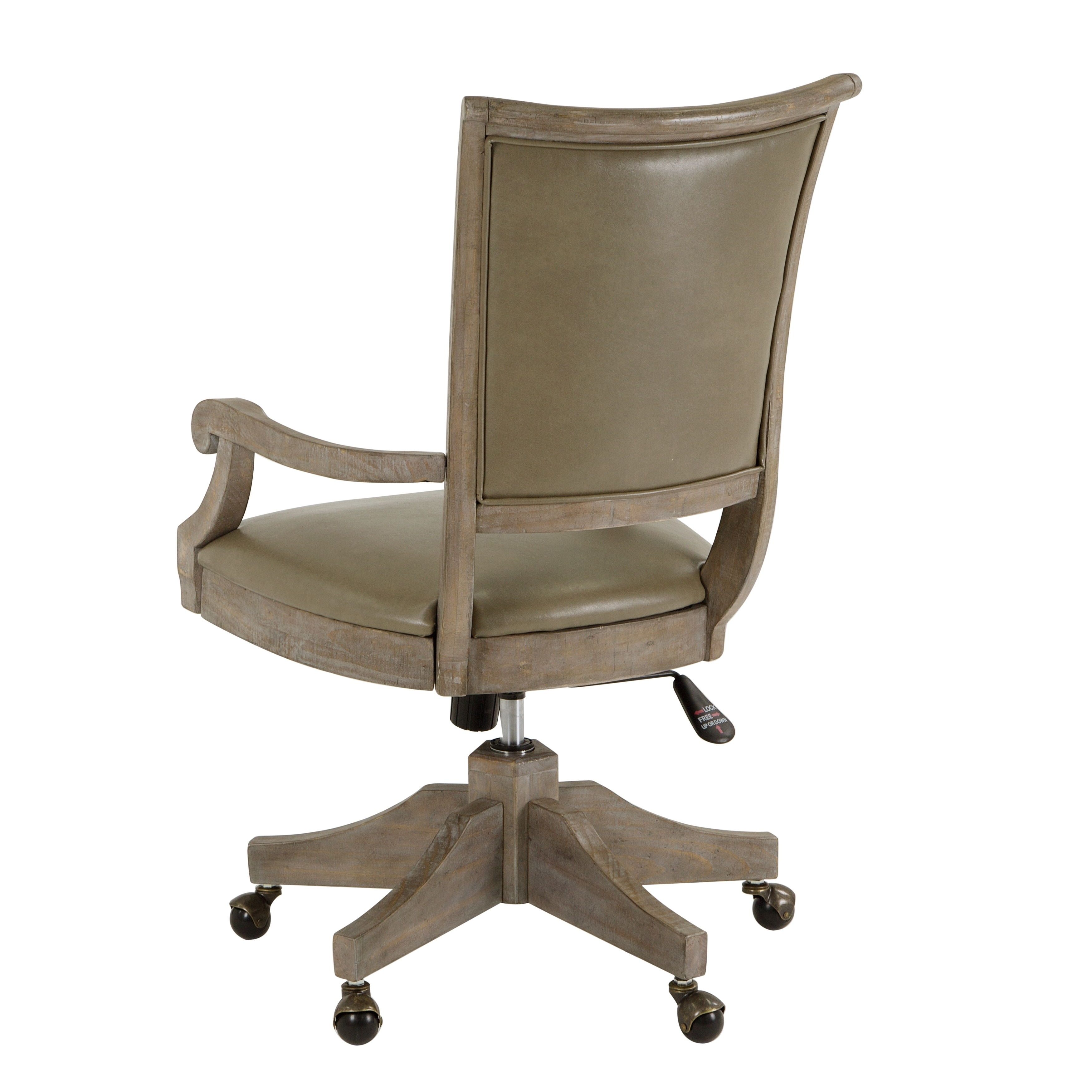 Lancaster Traditional Upholstered Swivel Office Chair Free Shipping Today 22408473