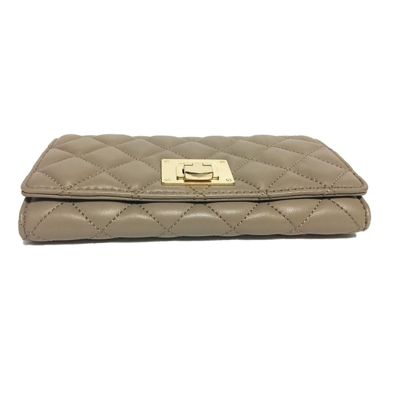 21e56249cade Shop MICHAEL Michael Kors Astrid Soft Quilted Leather Carryall Wallet - Free  Shipping Today - Overstock - 22413563