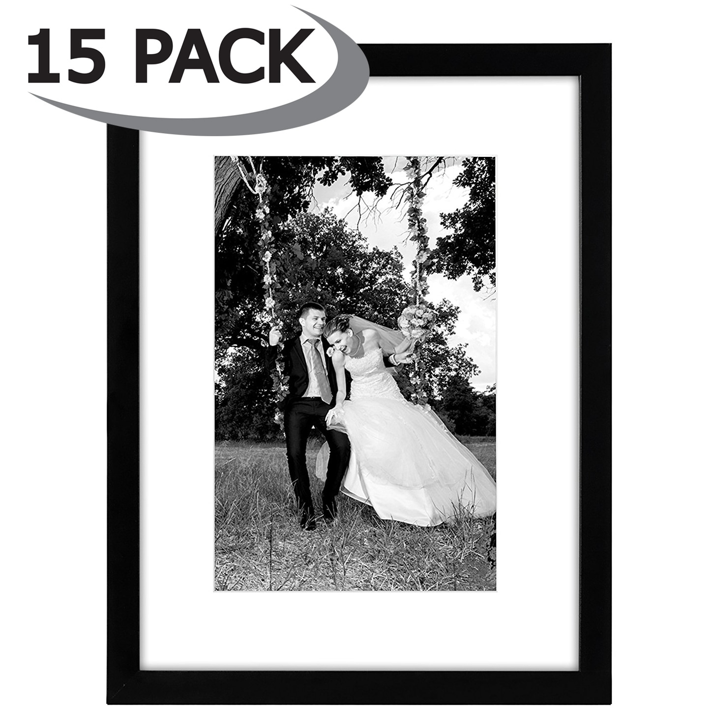 Shop 15 Pack - 12x16 Black Picture Frames - Made to Display Pictures ...