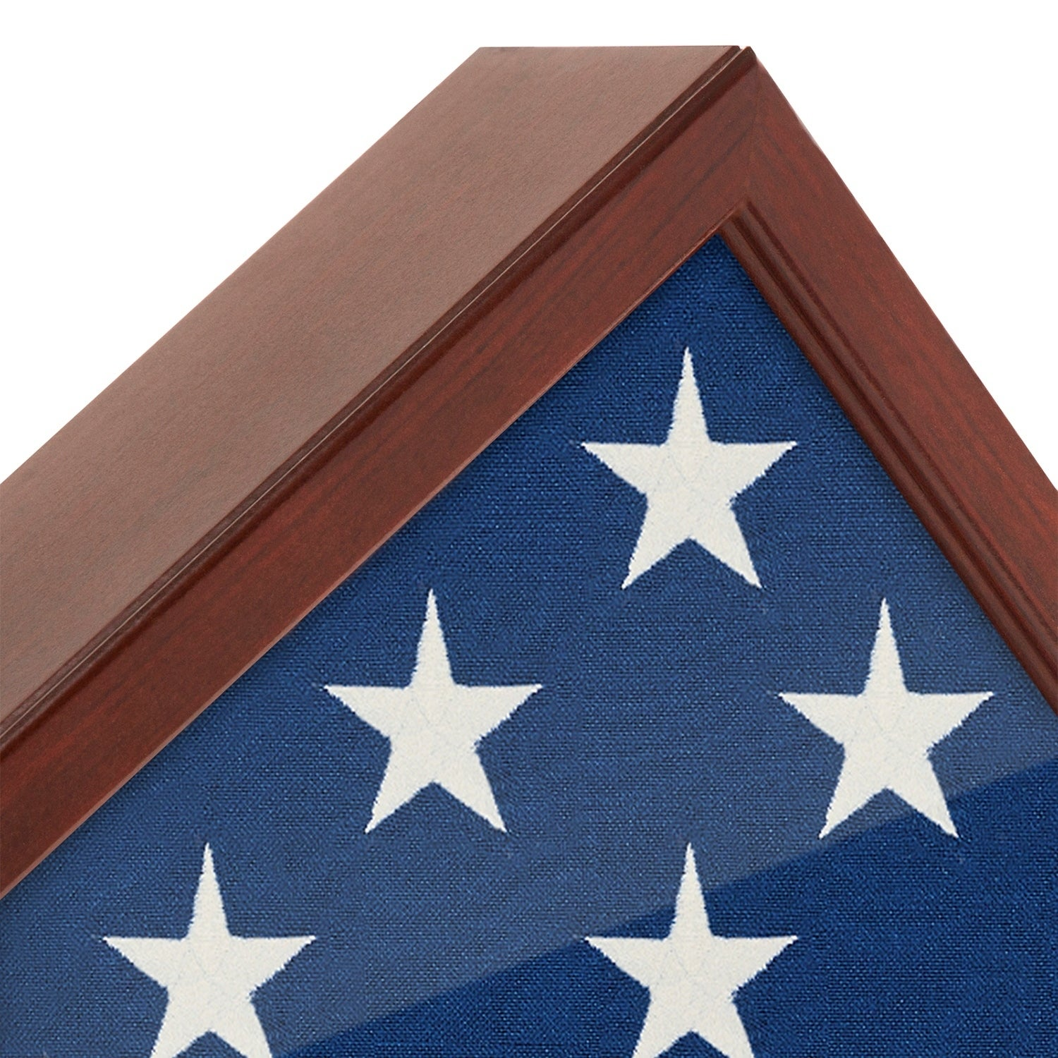 Flag Case Frame - Display Case for 5x9.5\' Flag with Mahogany Finish ...
