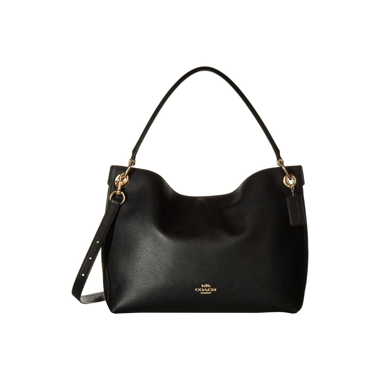 267813d10165 Shop COACH Polished Pebble Leather Clarkson Hobo - Free Shipping Today -  Overstock - 22419889