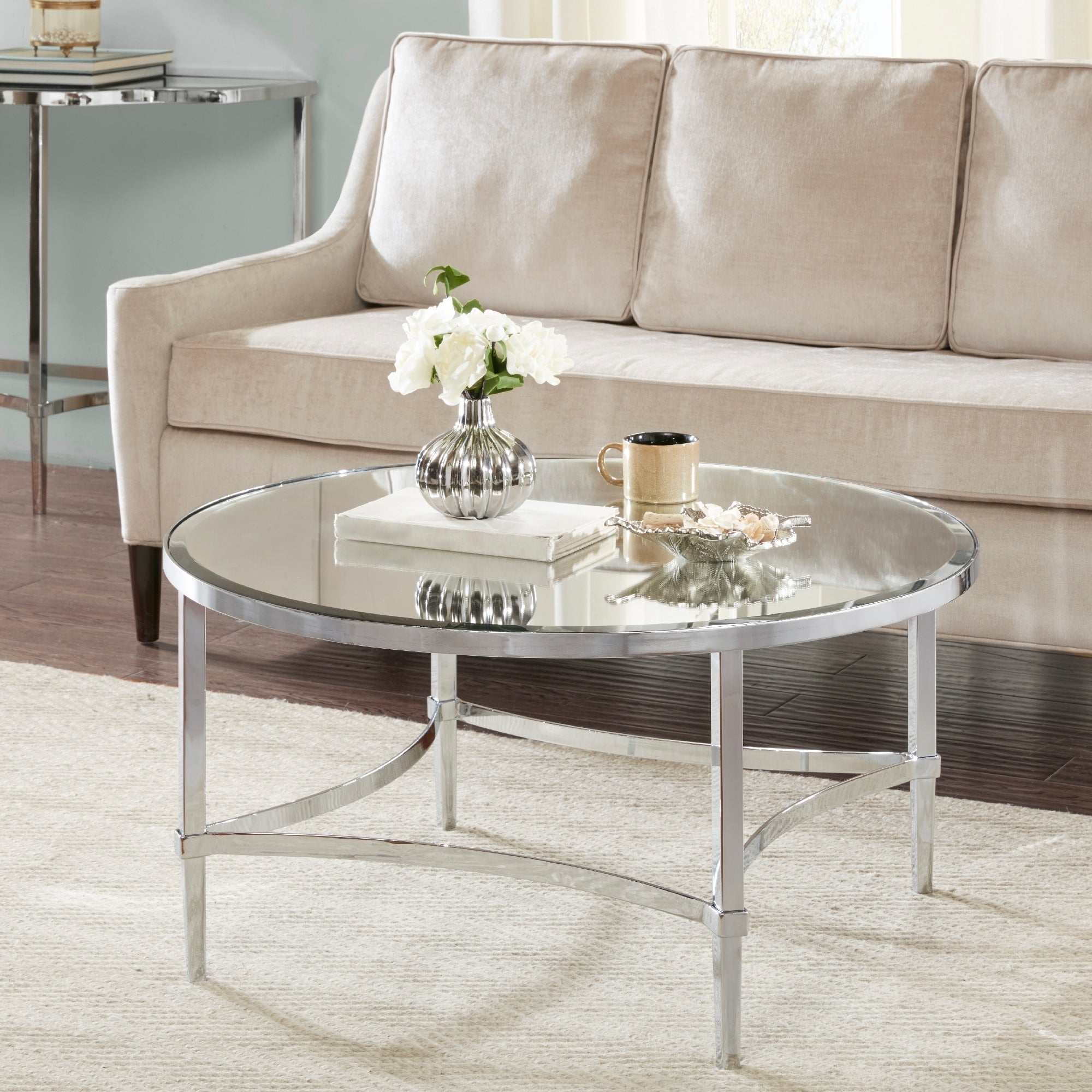 Madison Park Signature Triton Silver Round Coffee Table On Free Shipping Today 22436257