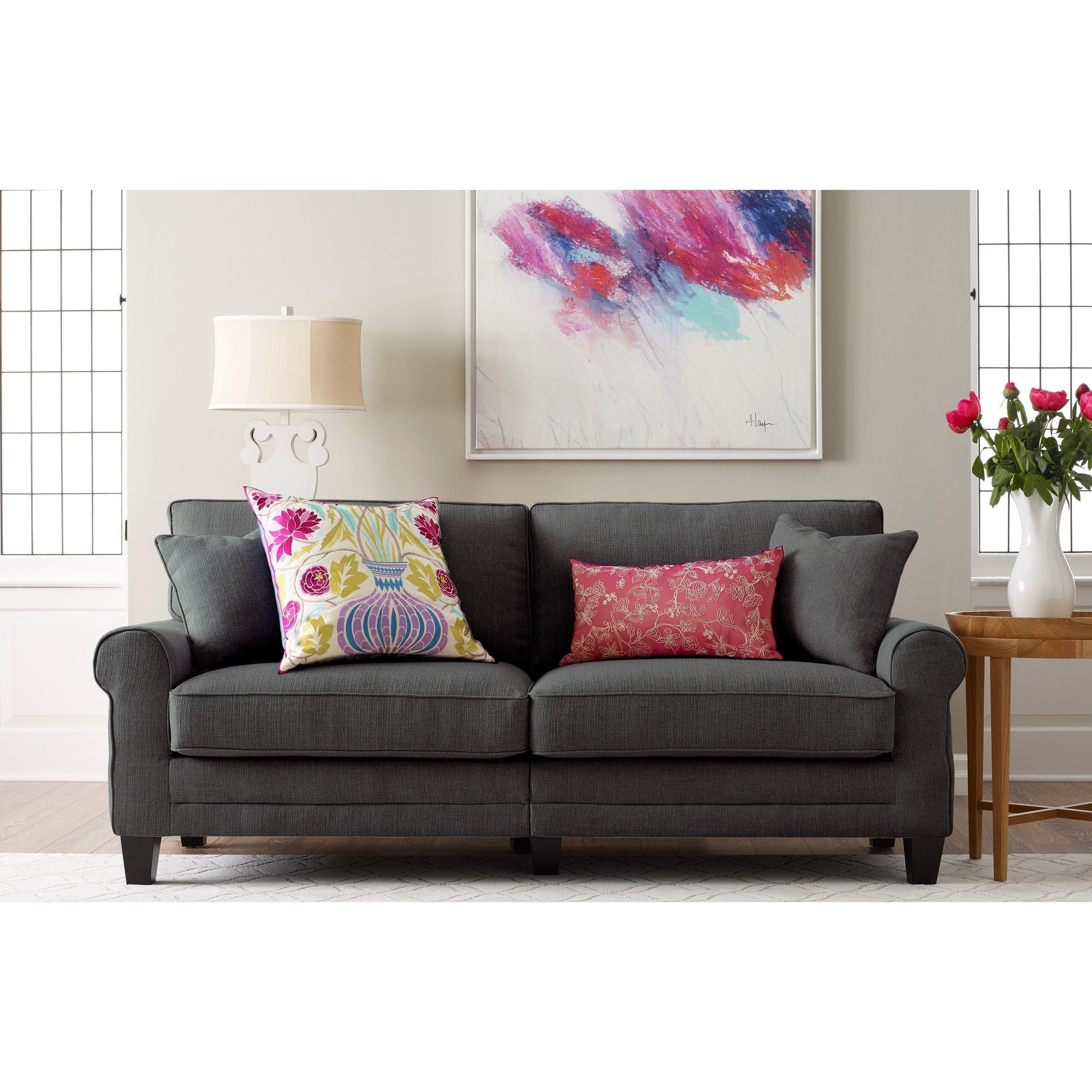 Shop Truly Home Whitney Grey Fabric Upholstered Hardwood