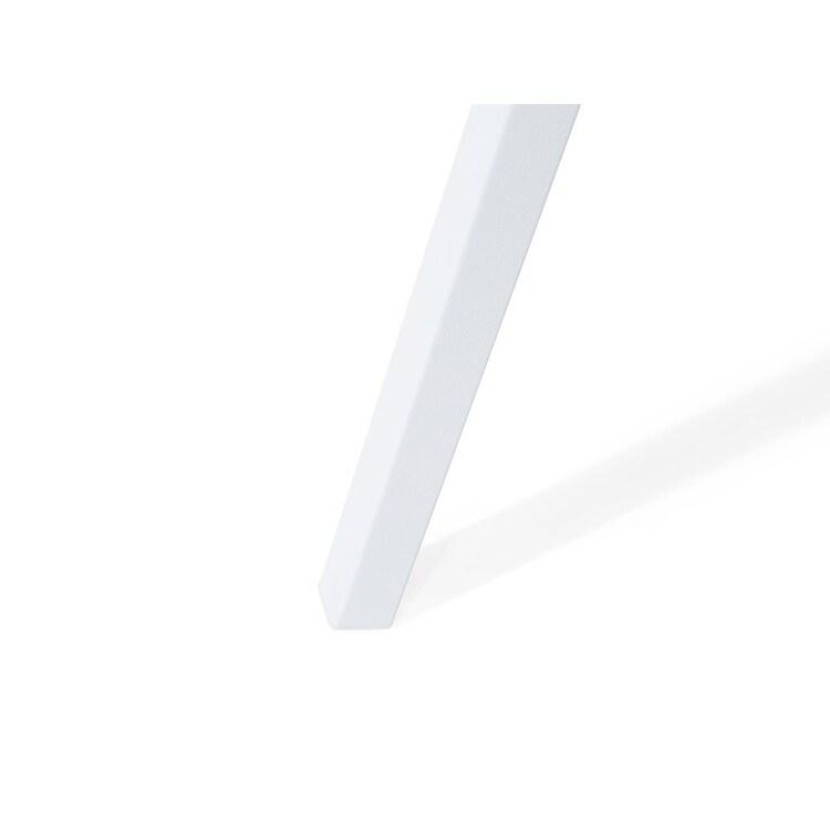 Industrial Tripod Studio Floor Lamp White Metal Shade Thames II