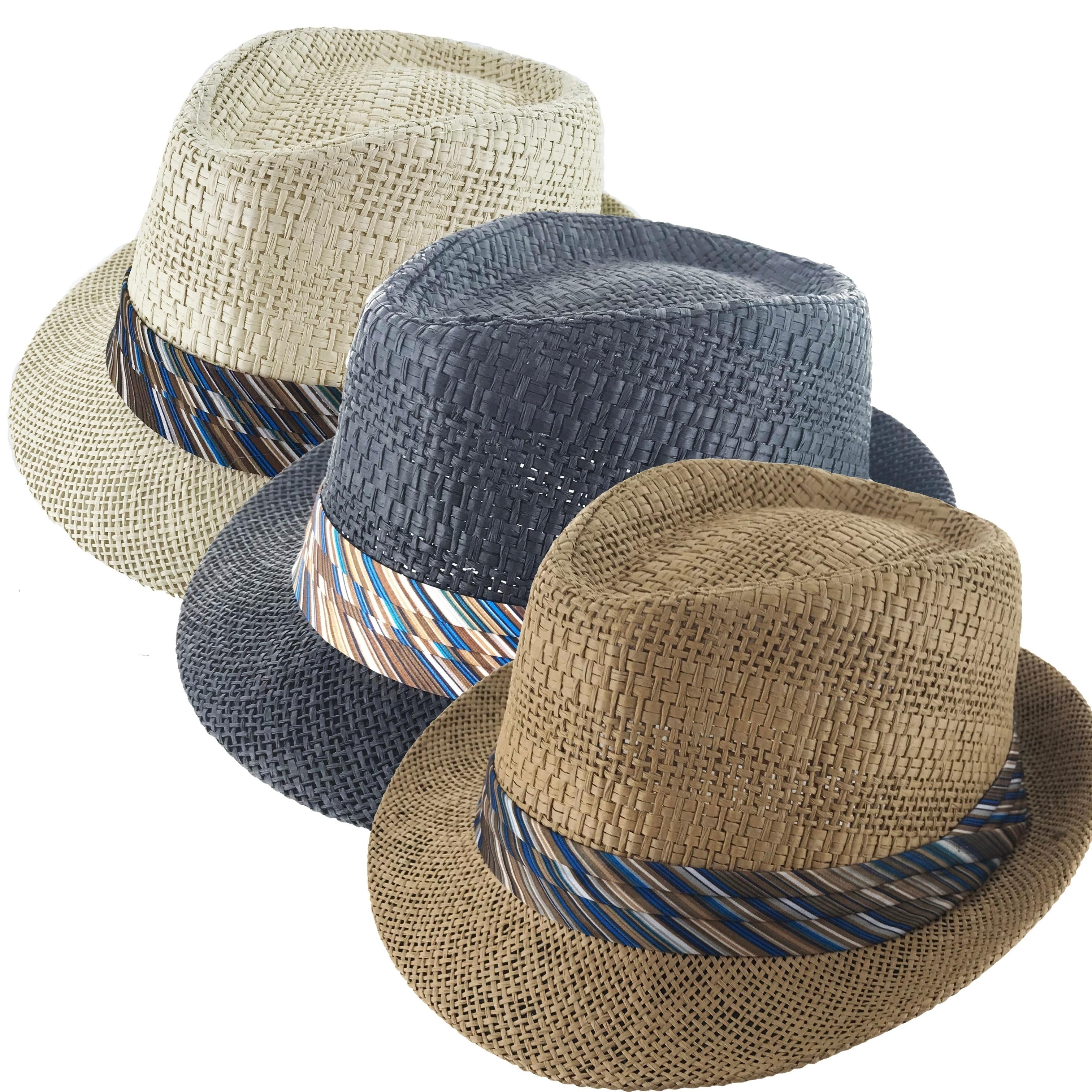82b52c9023e Shop Faddism Festiva Cuban Style Short Brim Fedora Straw Hat - Free ...