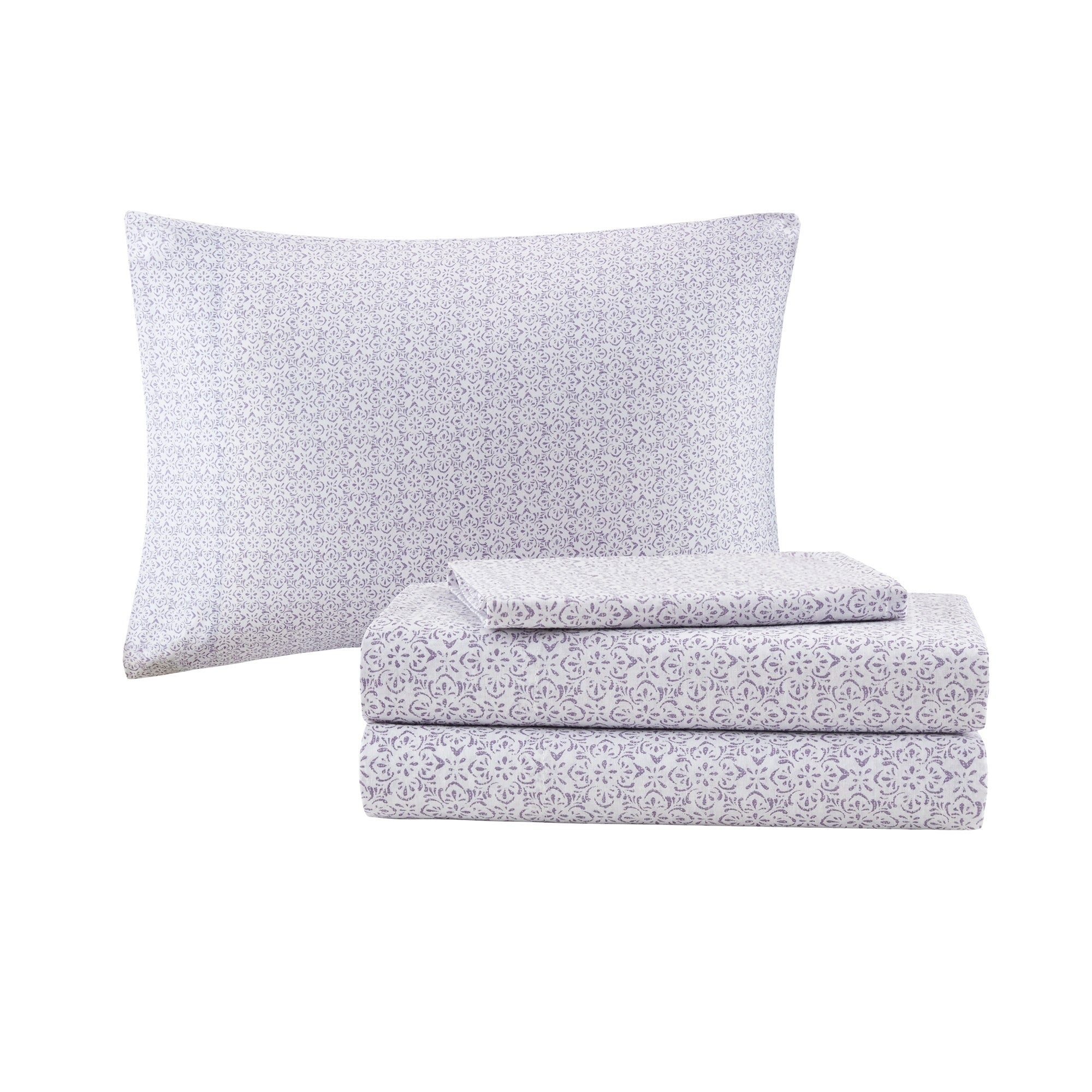 93b21f2e8ab2 Shop Madison Park Essentials Cristal Purple Complete Bed Set Including  Cotton Sheets - On Sale - Free Shipping Today - Overstock - 22506140
