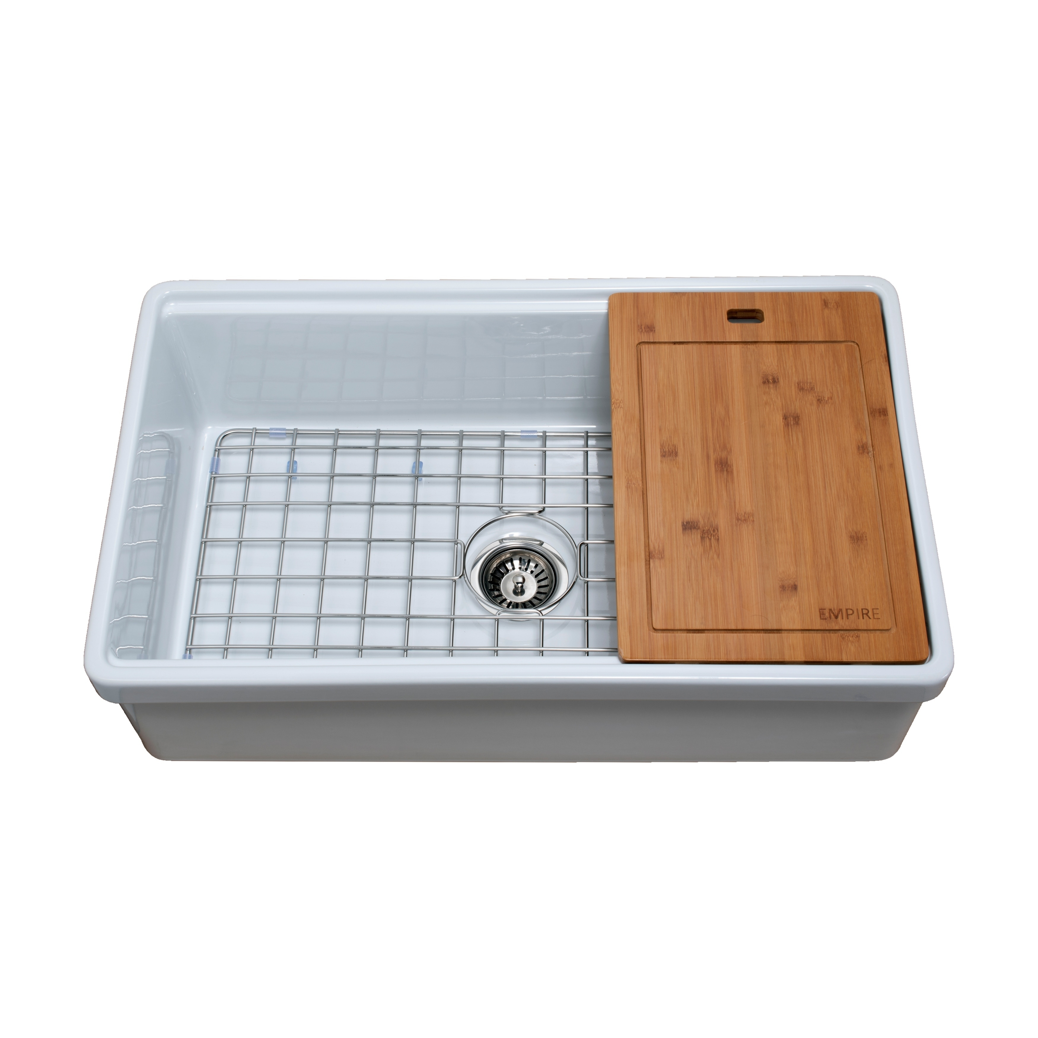 Shop Tosca Farmhouse Fireclay 33 in. Single Bowl Kitchen Sink in ...