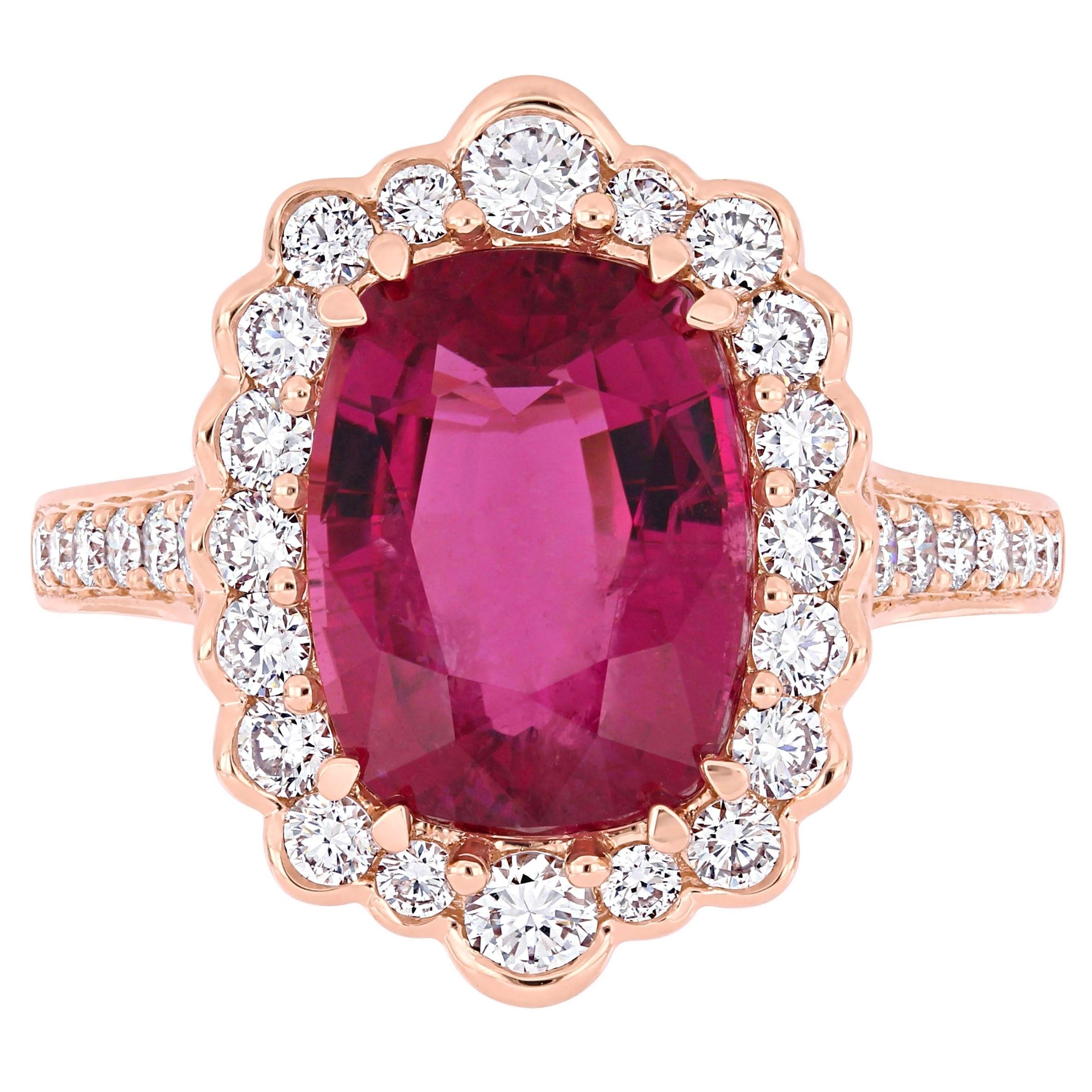 Shop Miadora Signature Collection 14k Rose Gold Cushion-Cut Pink ...