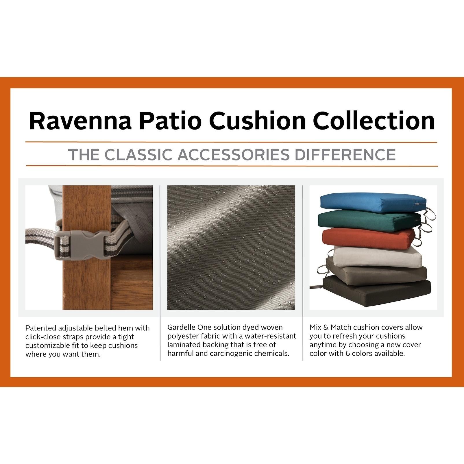 Ravenna Patio Back Cushion Slip Cover 21 L X 20 W X 4 T 21 L X