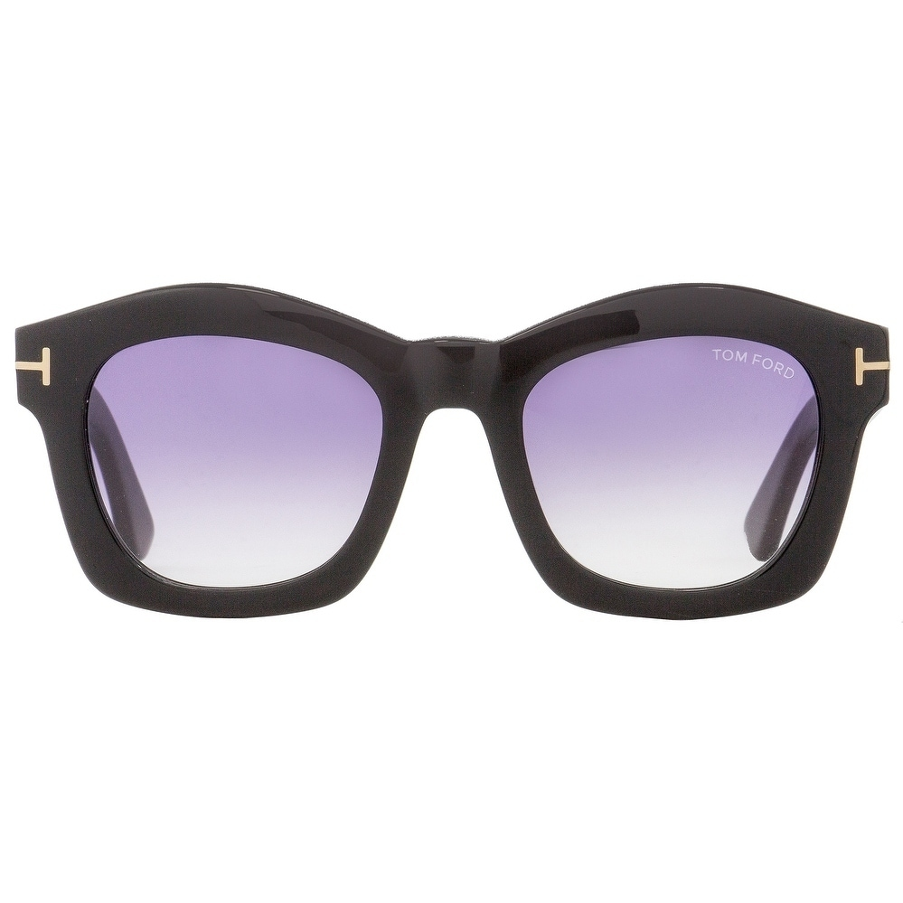 50c01db47ff Shop Tom Ford TF431 Greta 01Z Womens Black Gold 50 mm Sunglasses - Free  Shipping Today - Overstock - 22513673