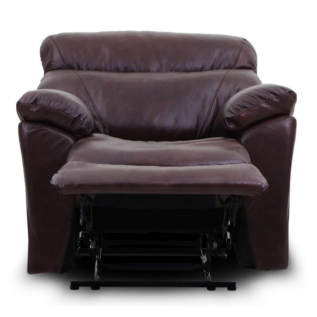 Top Grain Leather Reclining Sofa 1 Seat Traditional And Clical Type Free Shipping Today 22518712