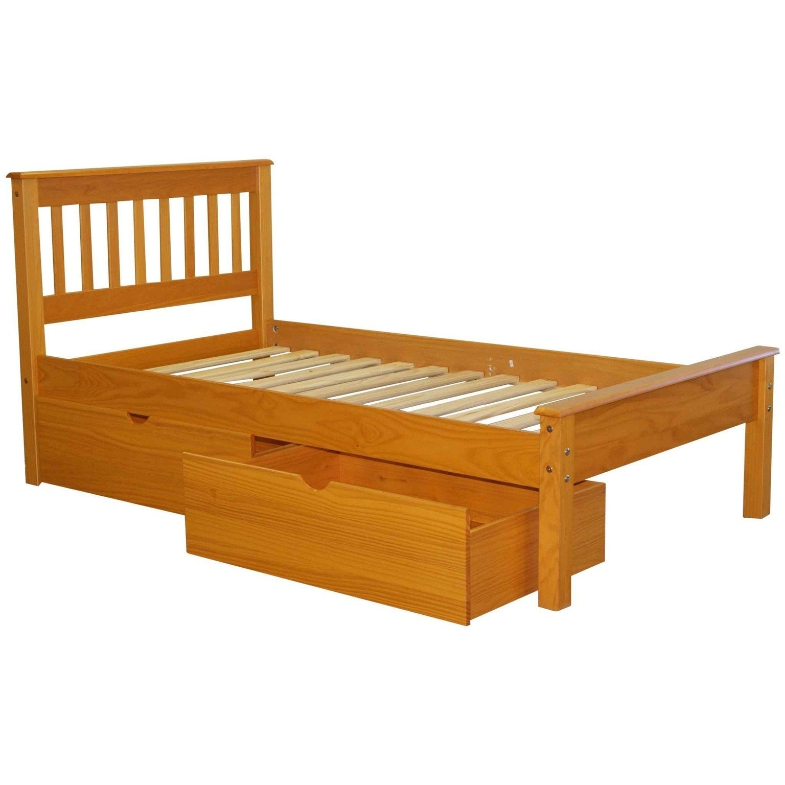Bedz King Mission Style Twin Bed Honey Free Shipping Today 28146868