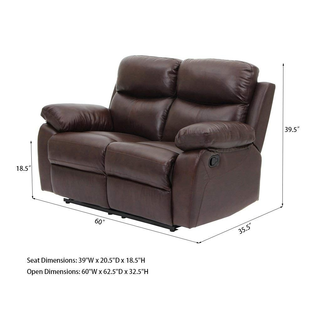 Charmant Top Grain Leather Sofa Recliner Loveseats Comfortable Home Furniture   Free  Shipping Today   Overstock   28153478