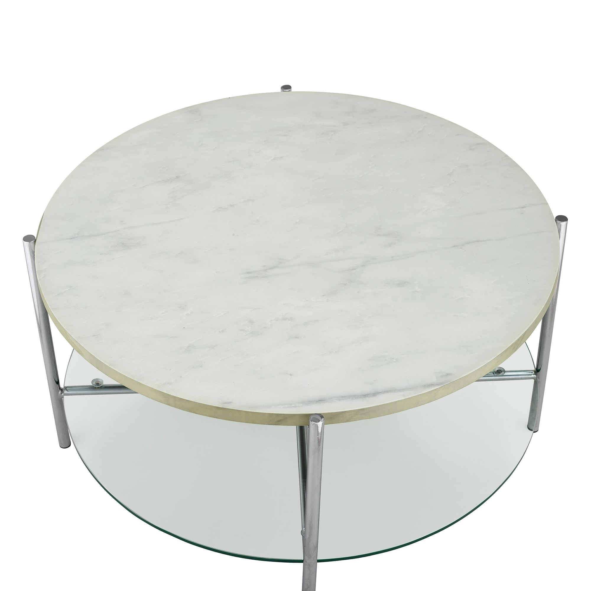 """Shop 32"""" Round Faux Marble Coffee Table 32 x 32 x 17h Sale"""