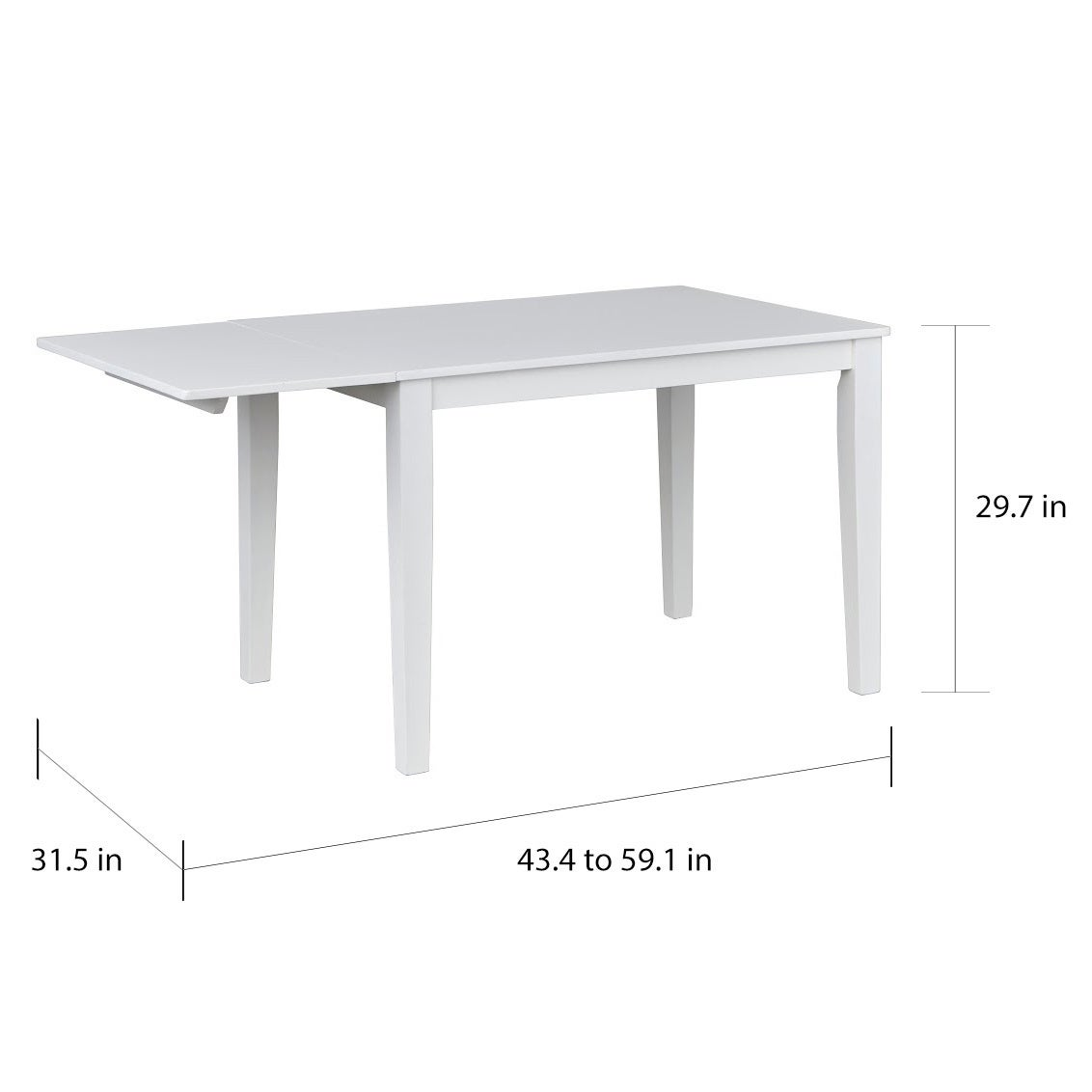 Shop Simple Living Newcastle Drop Leaf Dining Table White Free