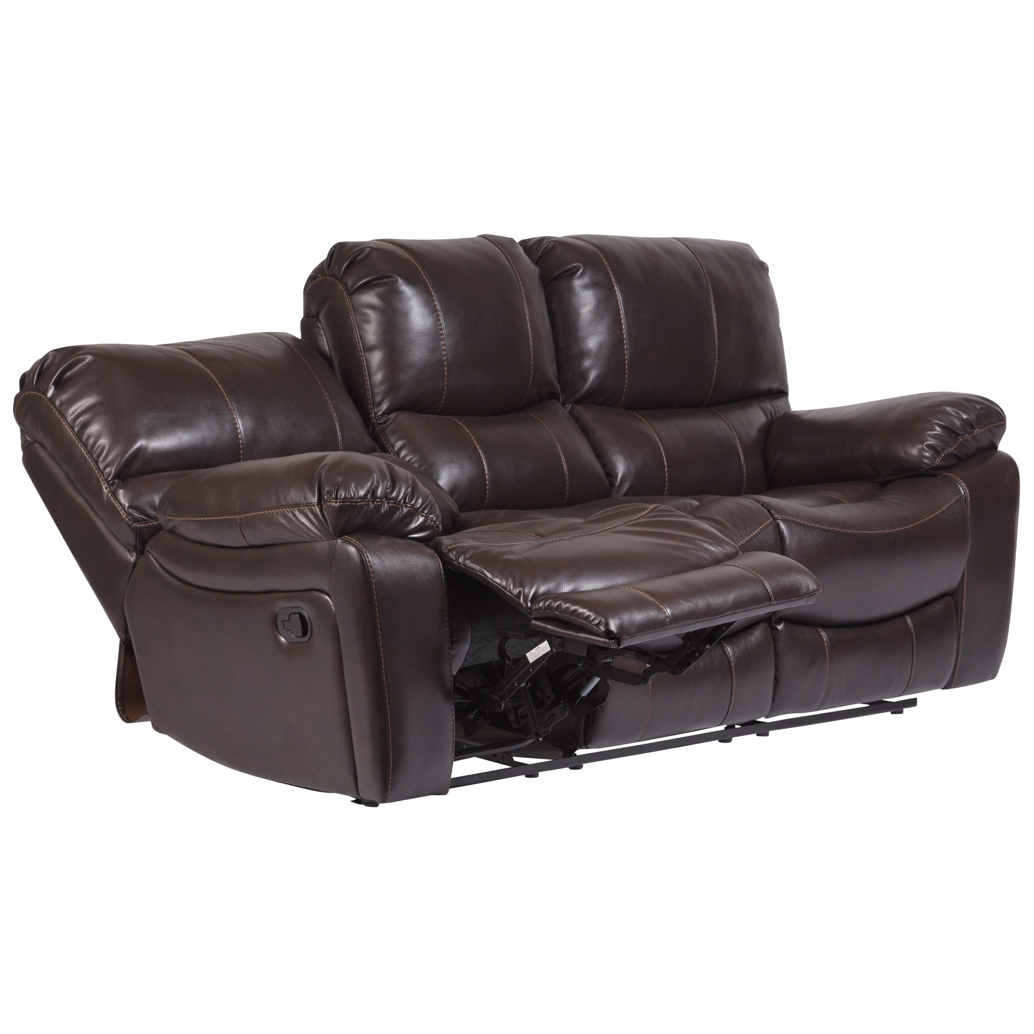 Porter Designs Ramsey Leather-Look Reclining Sofa - 40\