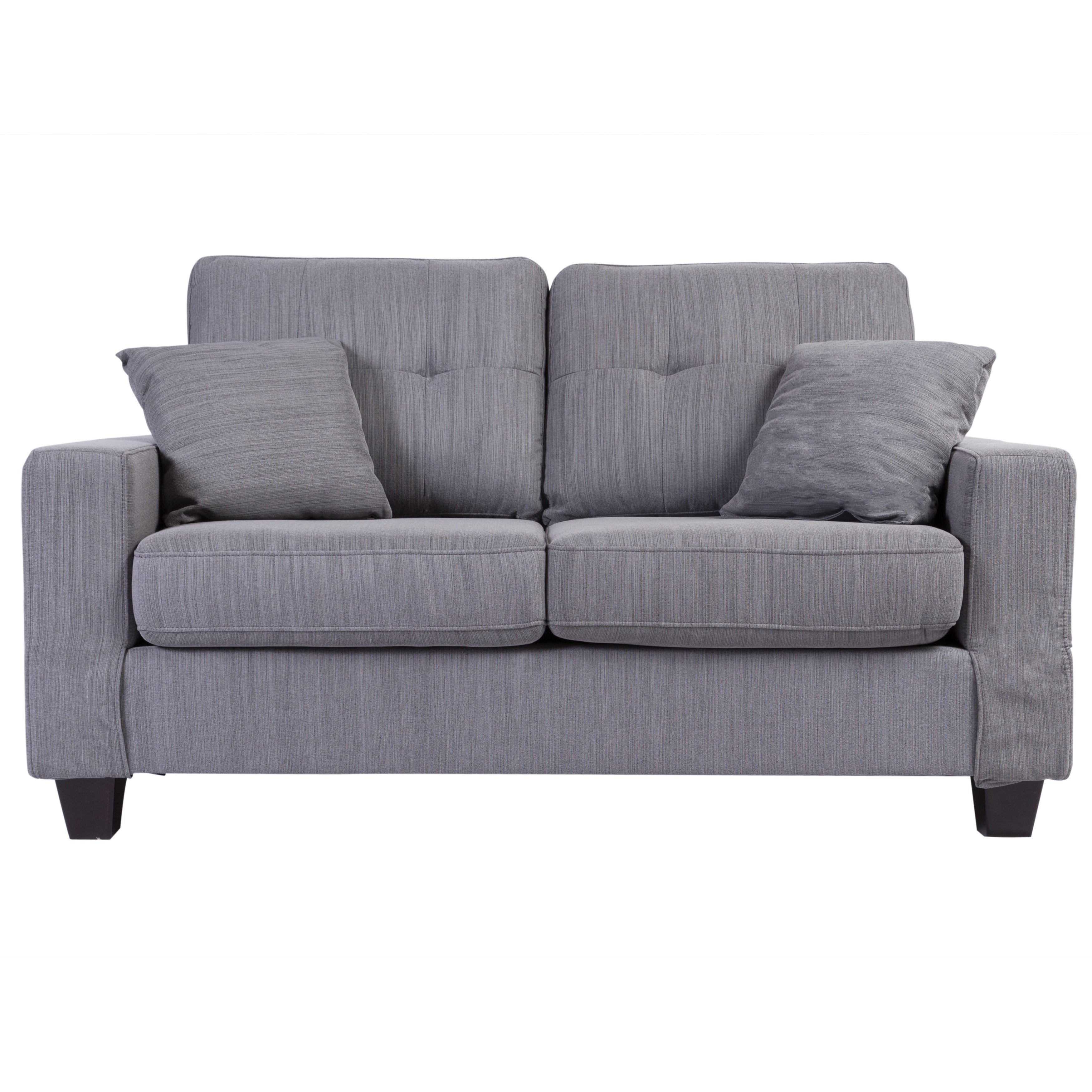 Sitswell Landon Tufted Loveseat Light Gray 63 L X 33 W 37 H On Free Shipping Today 22538310