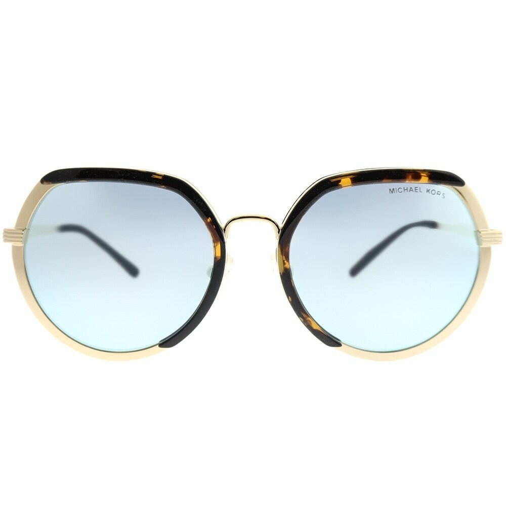 8f059a35c04 Shop Michael Kors Round MK 1034 Ibiza 33336J Woman Lite Gold Frame  Turquoise Mirror Lens Sunglasses - On Sale - Free Shipping Today -  Overstock - 22539306