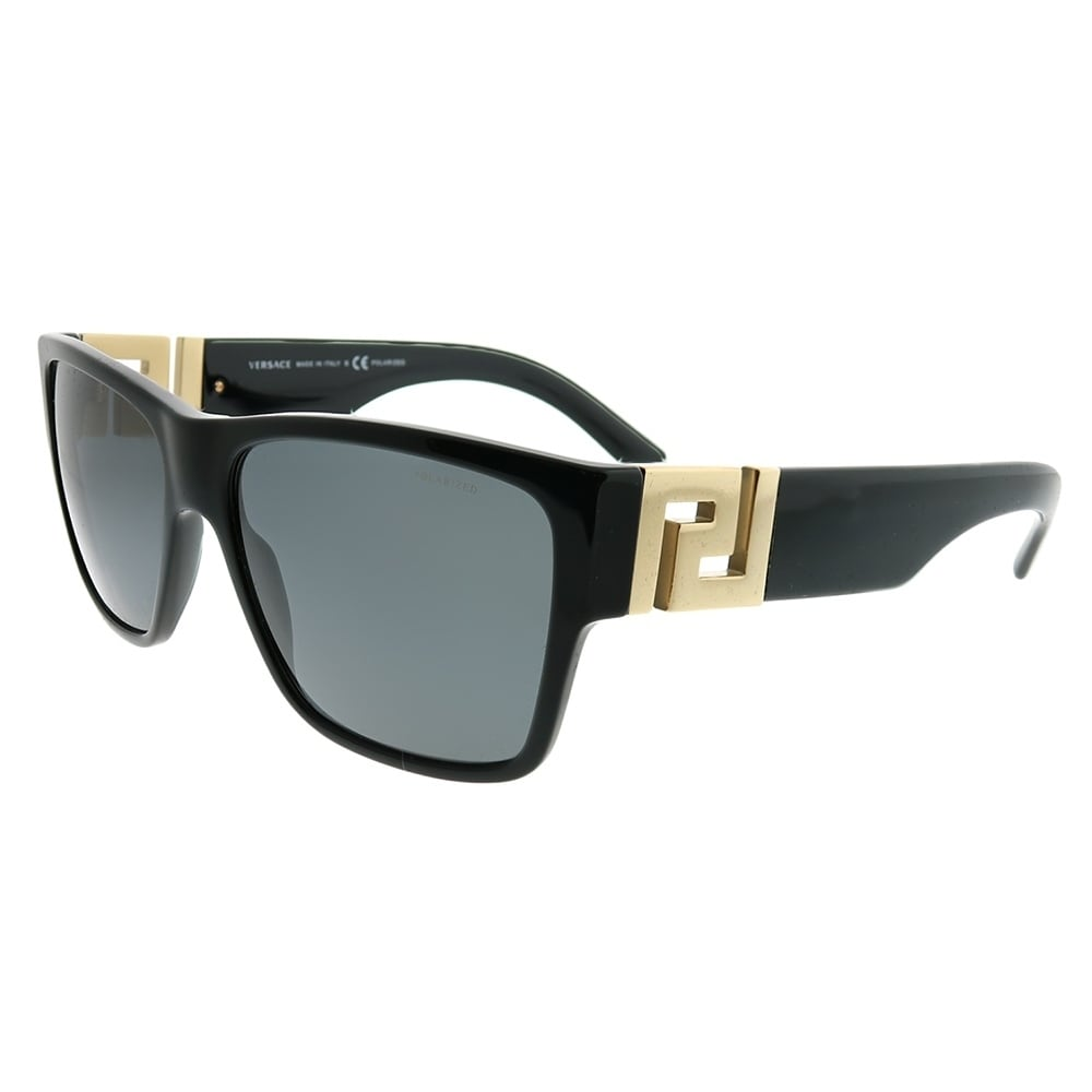 2fd942fa811 Versace Square VE 4296 GB1 81 Unisex Black Frame Grey Polarized Lens  Sunglasses