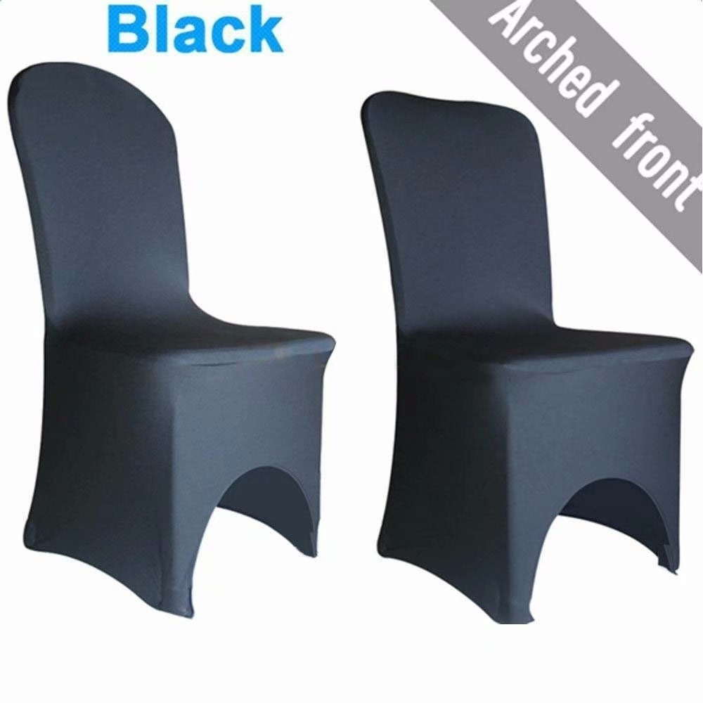 Shop 100pcs elastic polyester spandex chair covers black free shipping today overstock 22539325