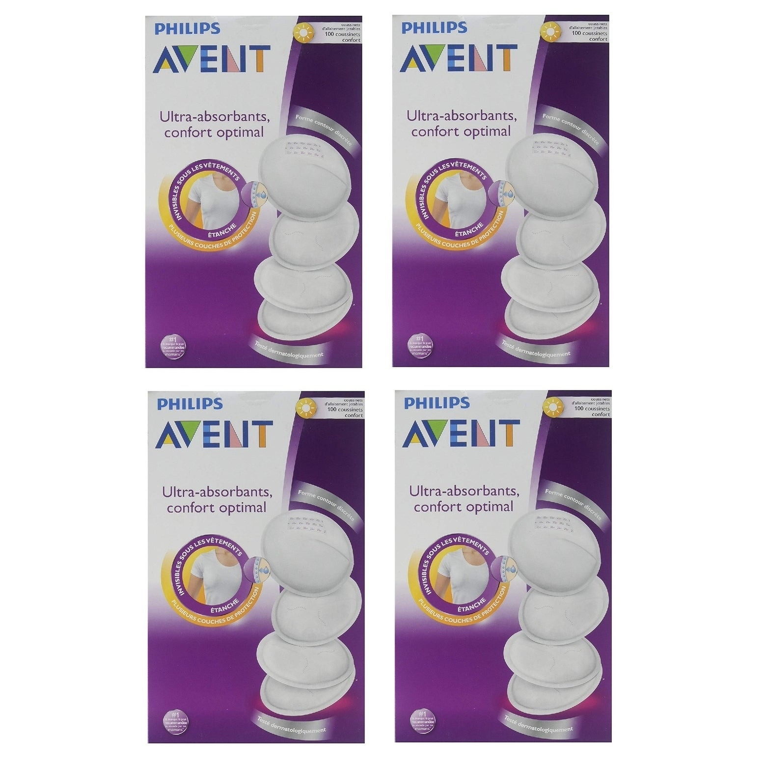 Philips Avent Scf254 10 Day Disposable Breast Pads White 100 Count Breastpads Washable Brand Story By