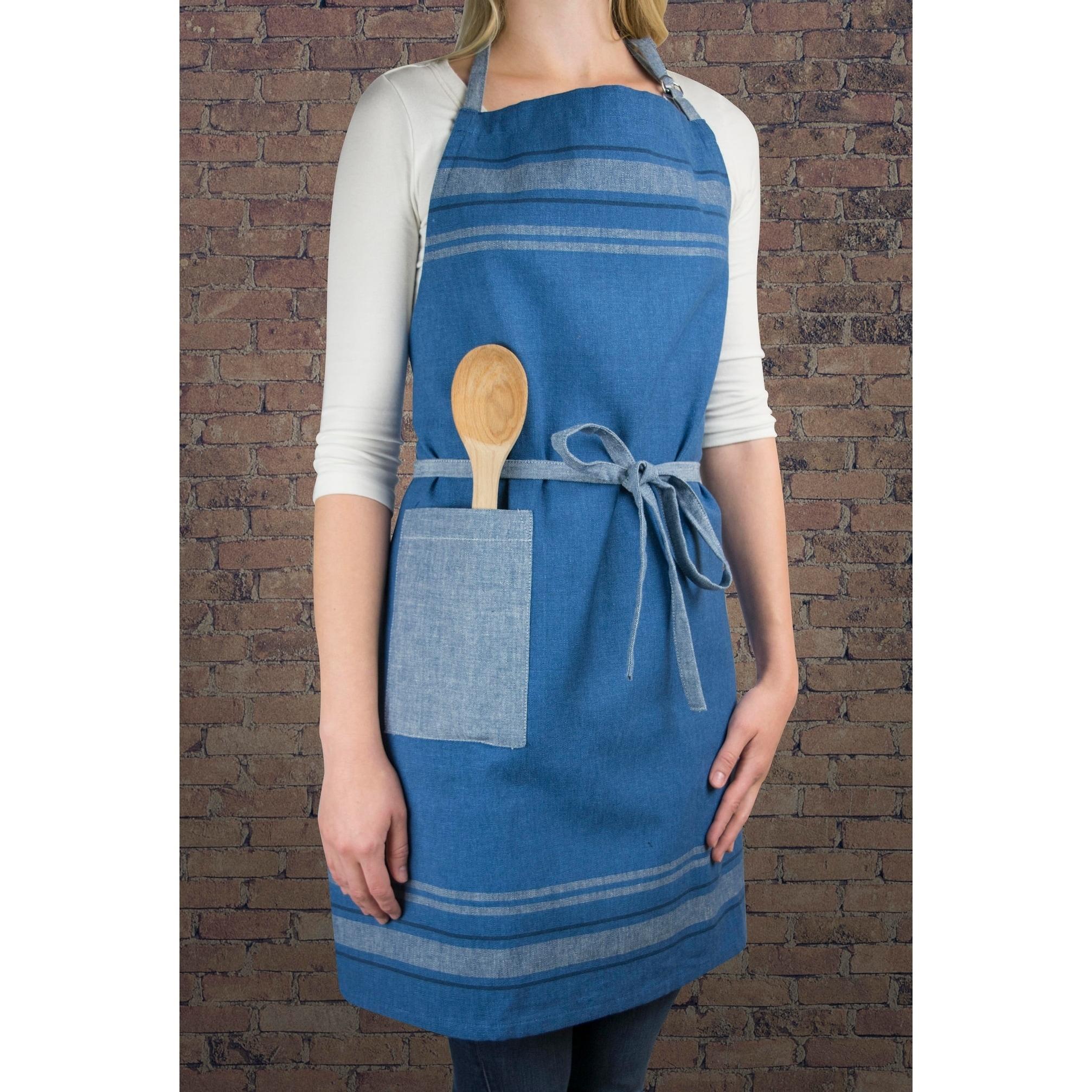 Shop Design Imports French Stripe Kitchen Apron - Free Shipping On ...