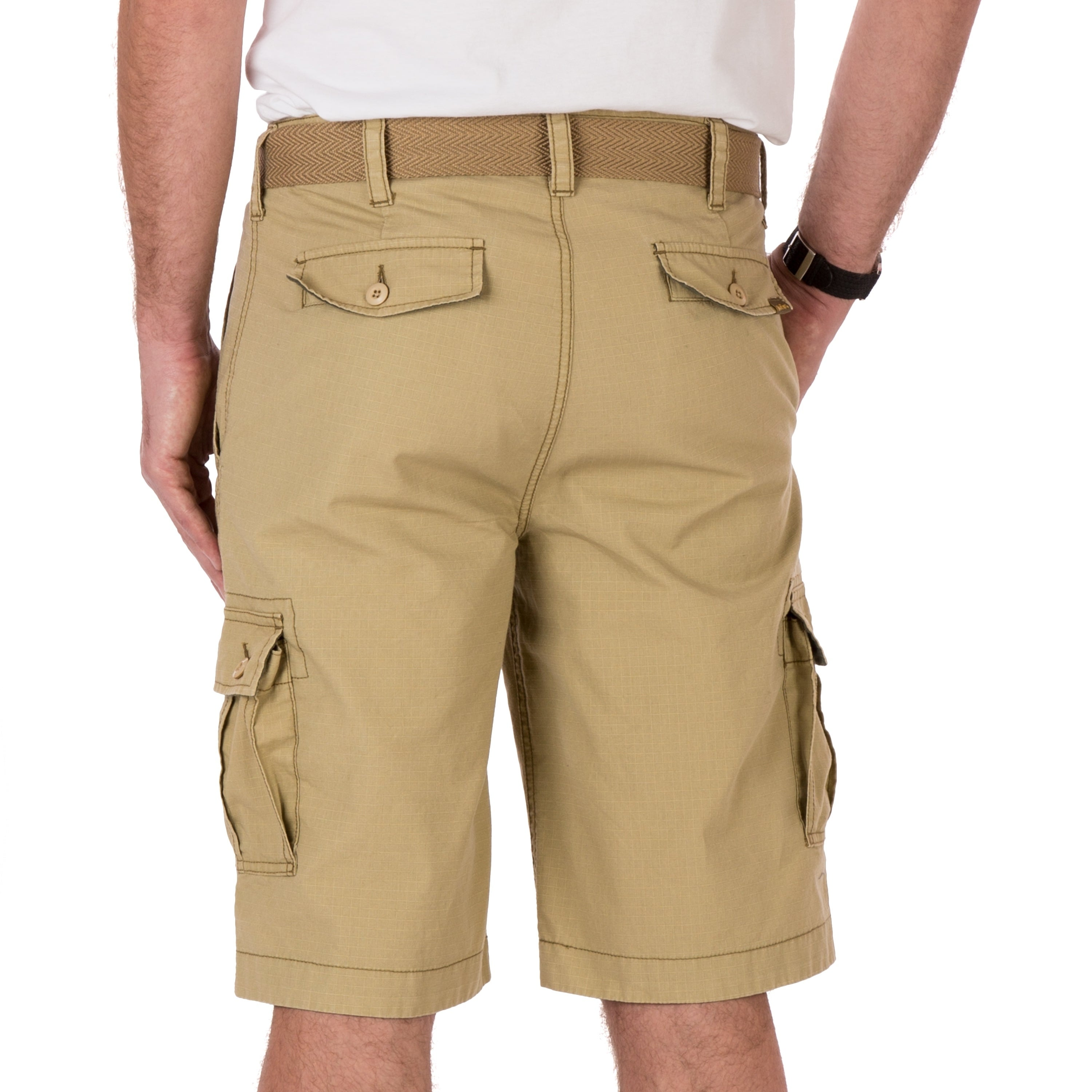 f381cde4af Shop Wearfirst Caution Ripstop Belted Legacy Cargo Short - Free Shipping On  Orders Over $45 - Overstock - 22561260