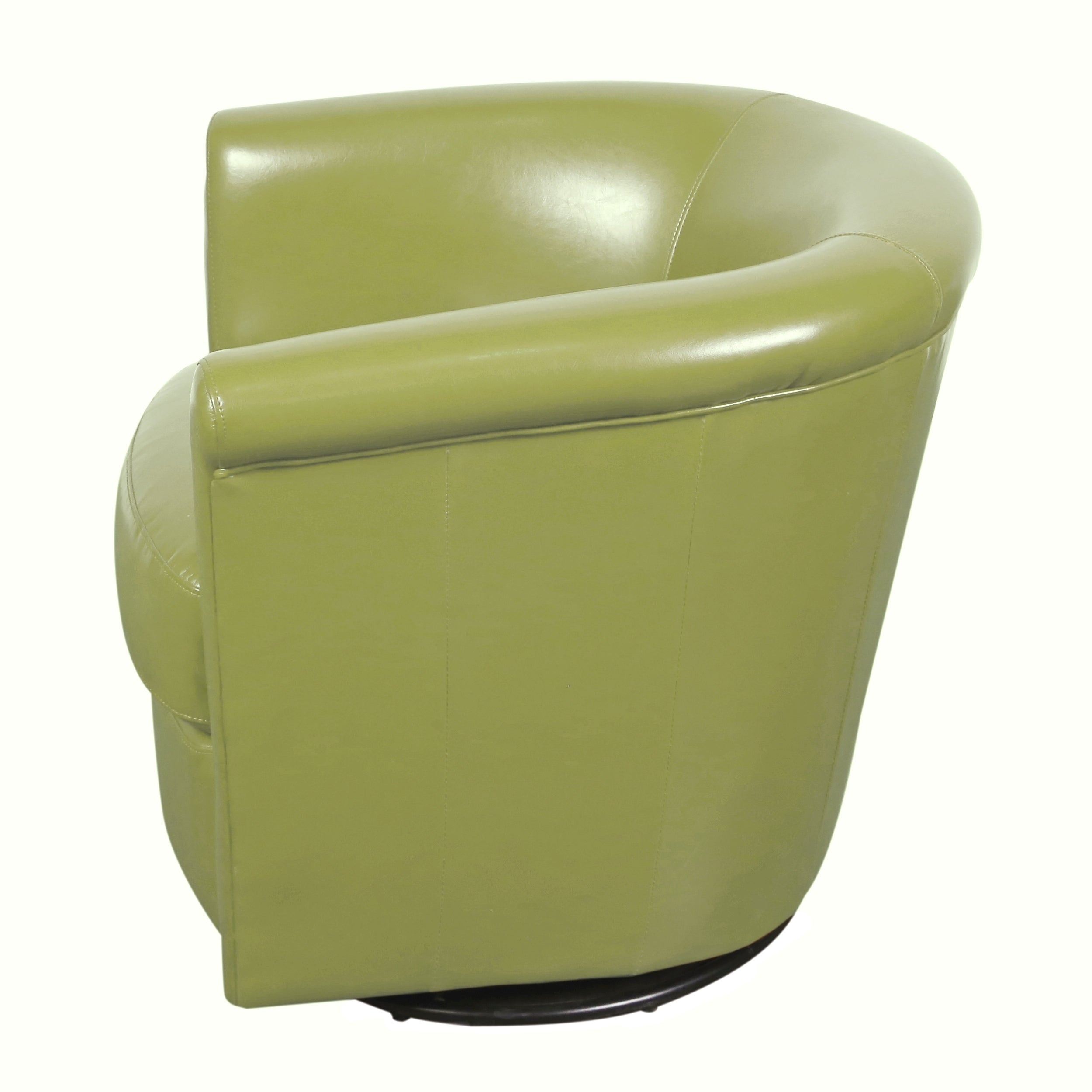 Porter Designs Marvel Lime Green Faux Leather Swivel Accent Chair Free Shipping Today 22565060