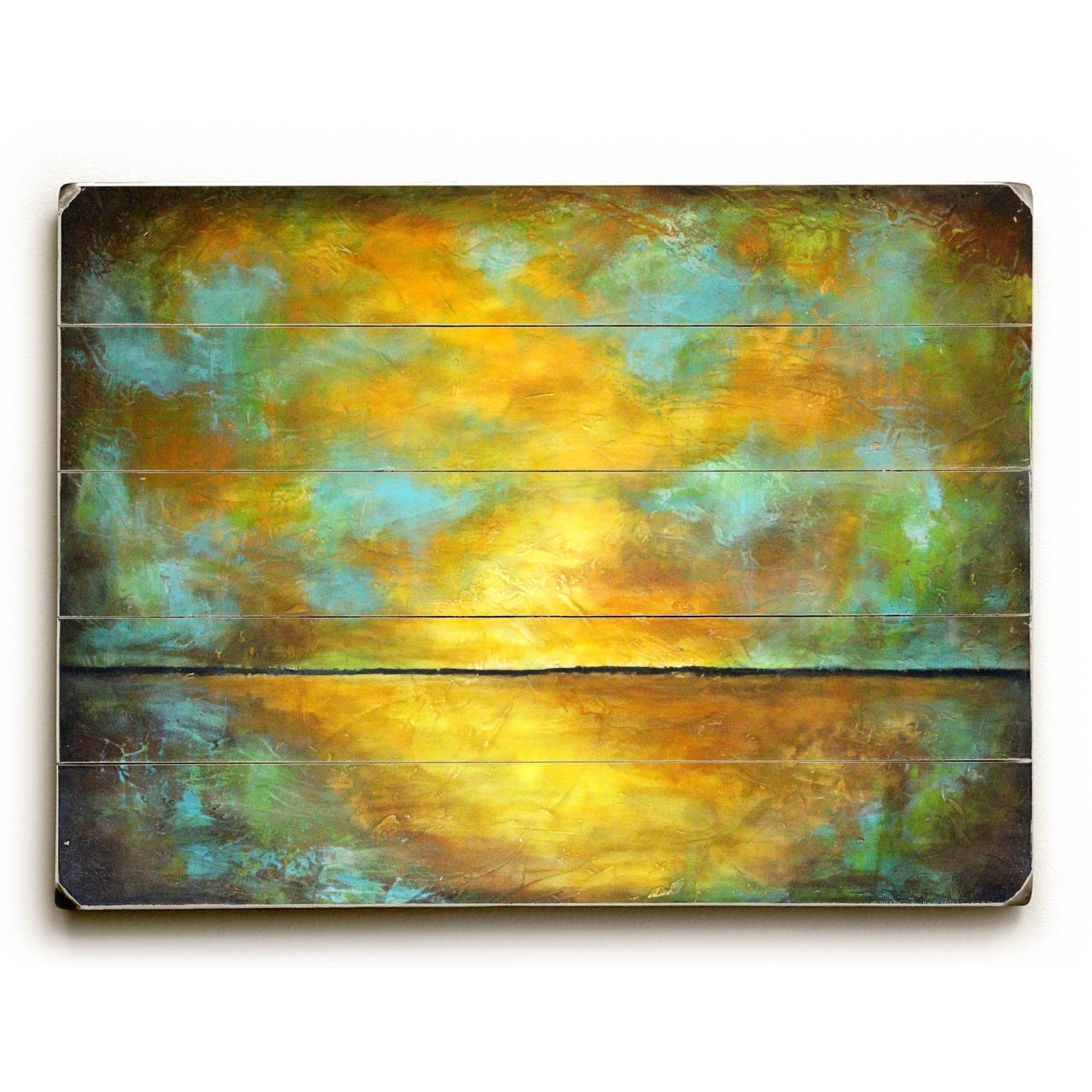 Land of Sun - 9x12 Solid Wood Wall Decor by Laura Sue Peters - 9 x ...