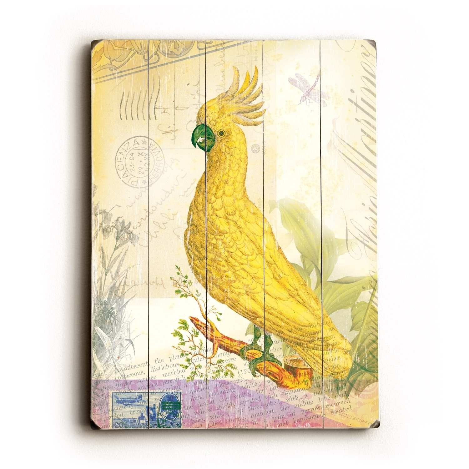 Yellow Bird - Planked Wood Wall Decor by Cory Steffen - Free ...