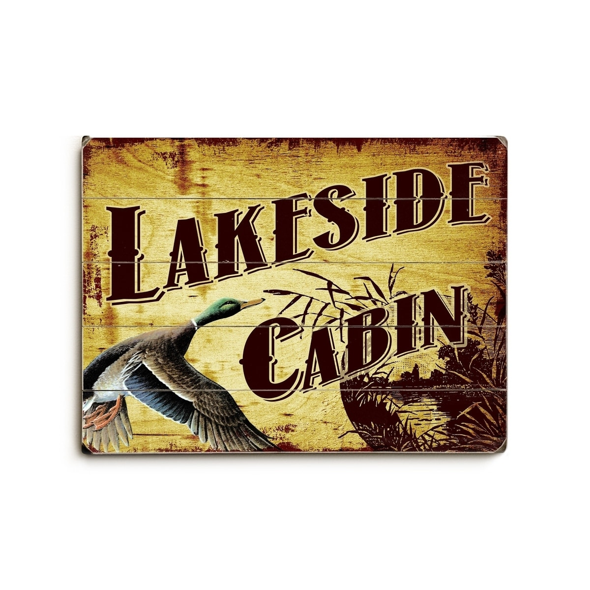 Lakeside Cabin - Planked Wood Wall Decor by Artehouse - Free ...
