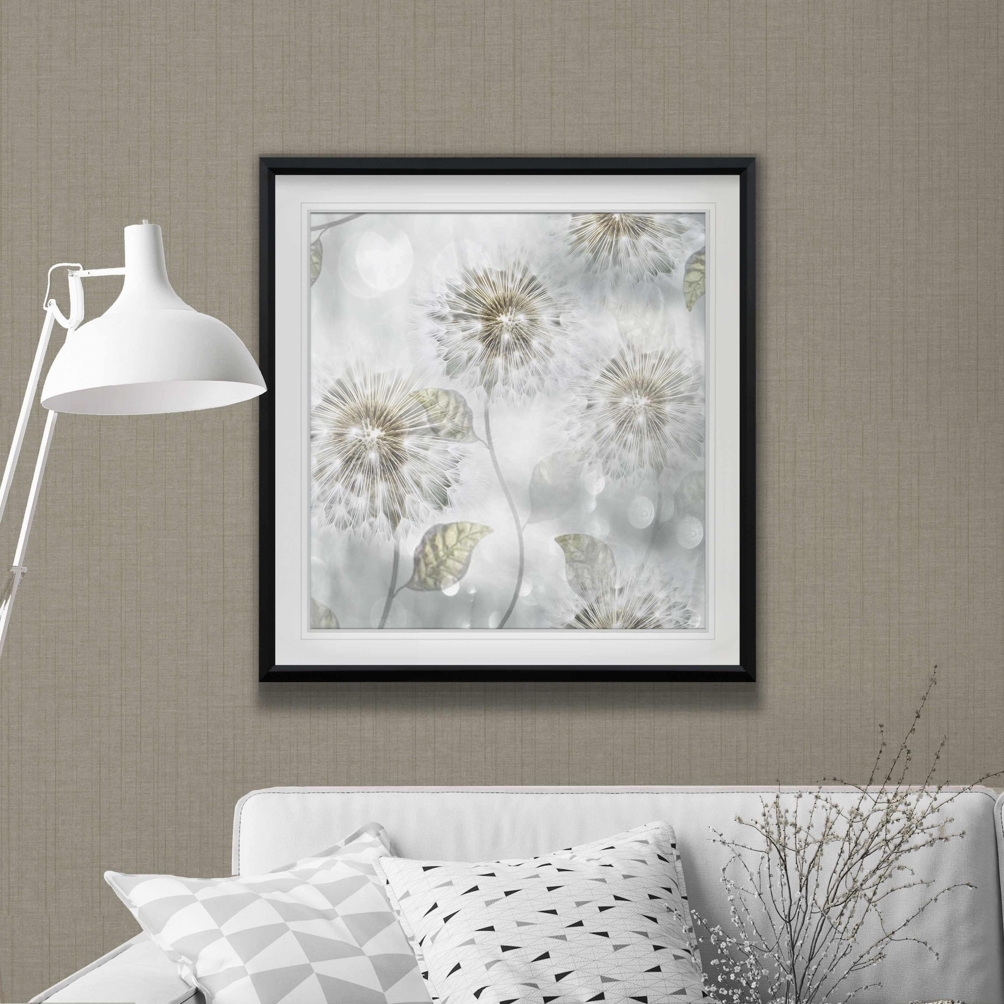 Shop Blowing Wishes I -Custom Framed Print - blue, white, grey ...
