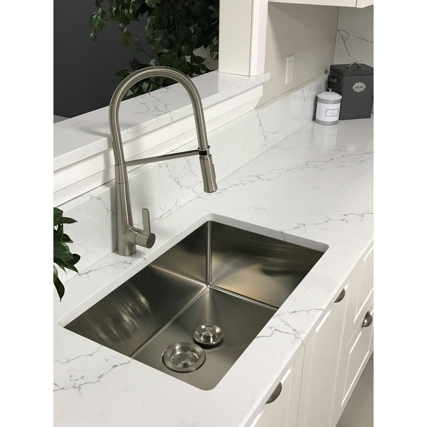 28 Inch Undermount Single Bowl Stainless Steel Kitchen Sink Luxury