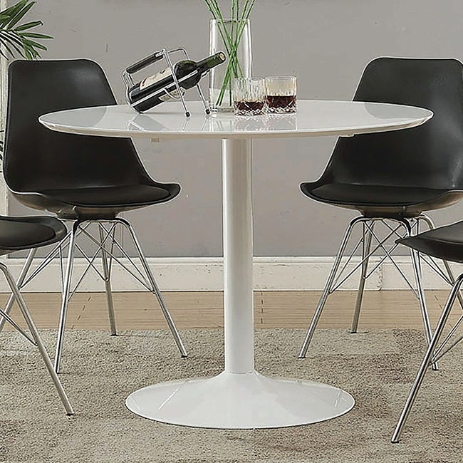 Lowry Mid-century Modern White Round Dining Table - 29.50\