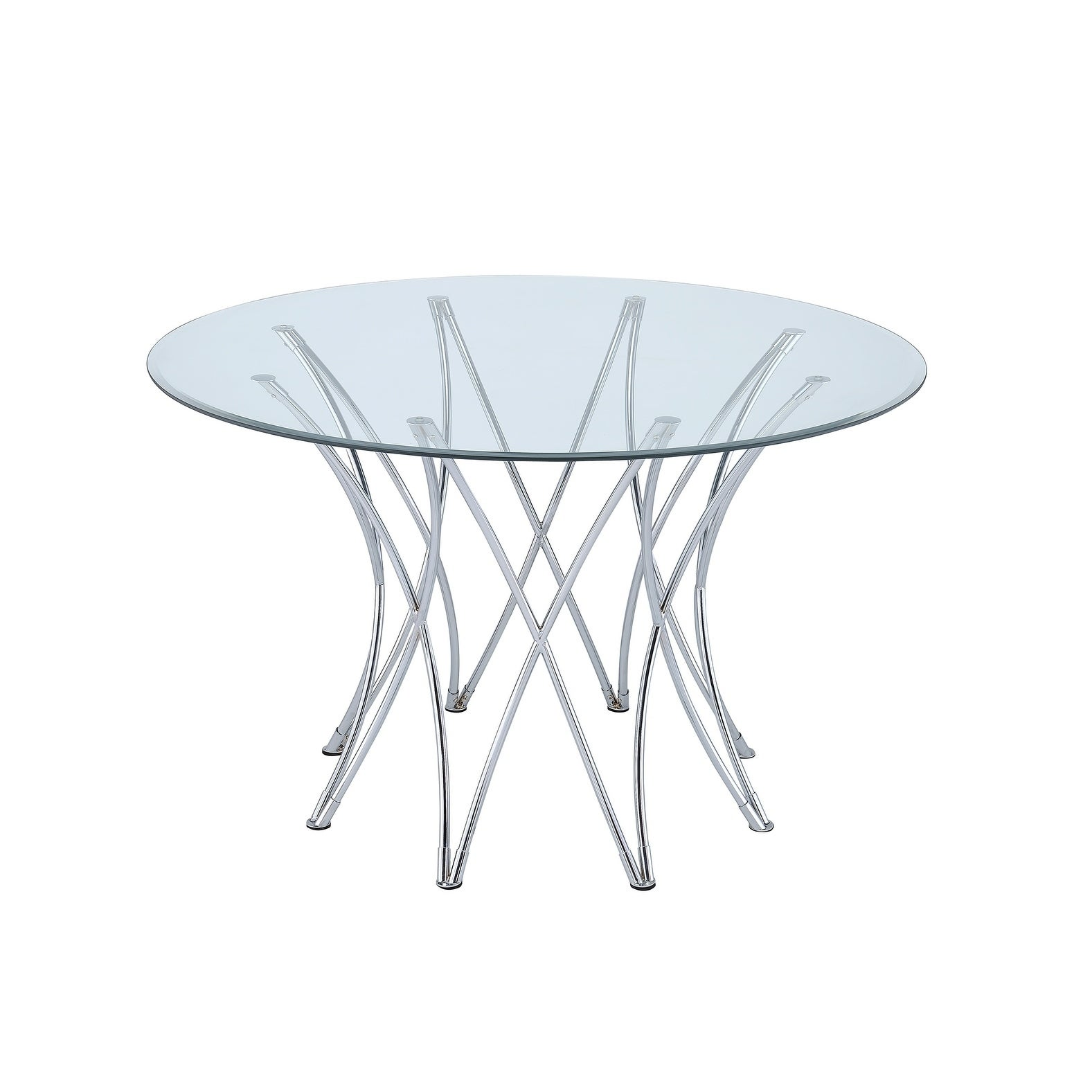 Cabianca Contemporary Chrome Table Base Only Silver On Free Shipping Today 22579199