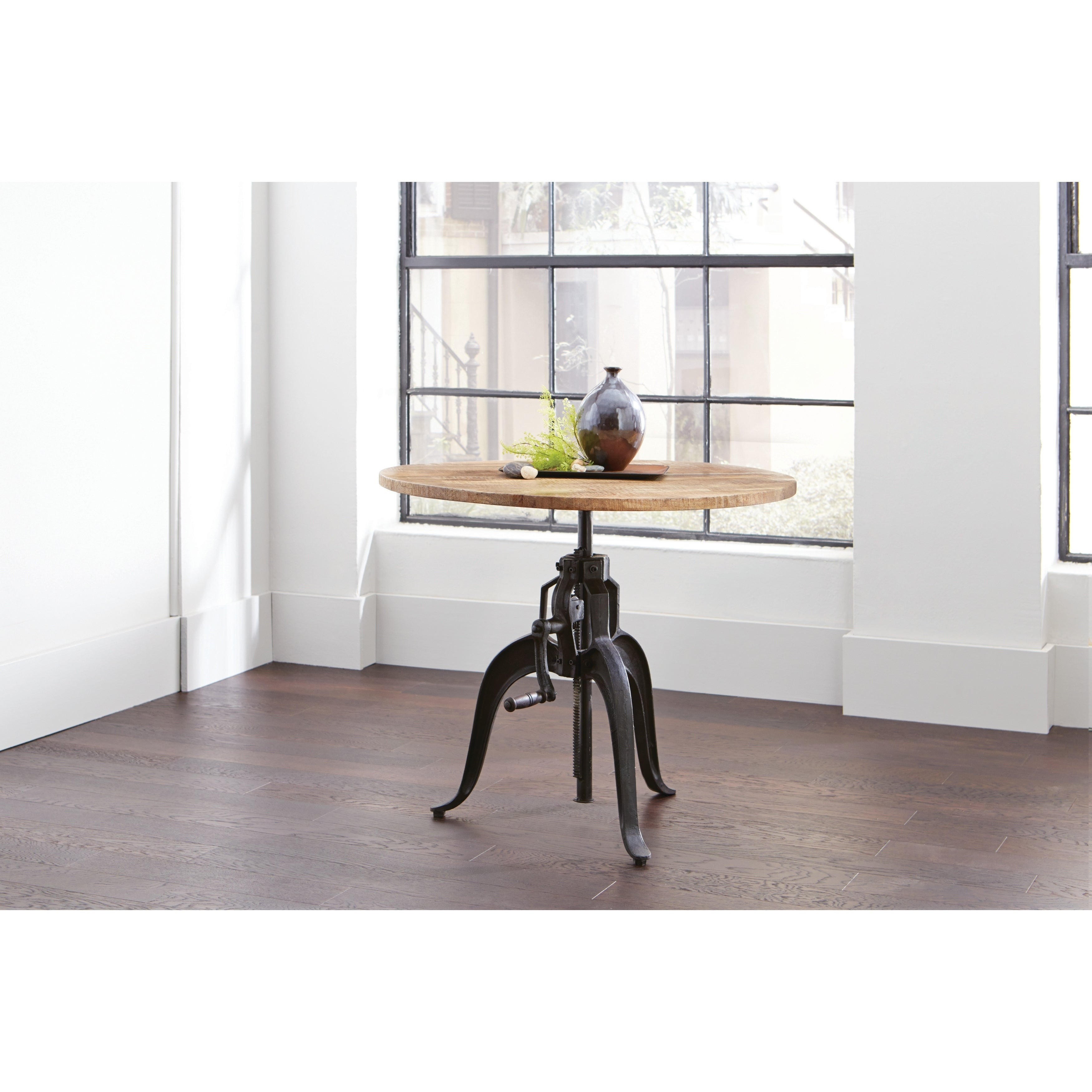 Shop galway adjustable height dining table black brown free shipping today overstock com 22579200