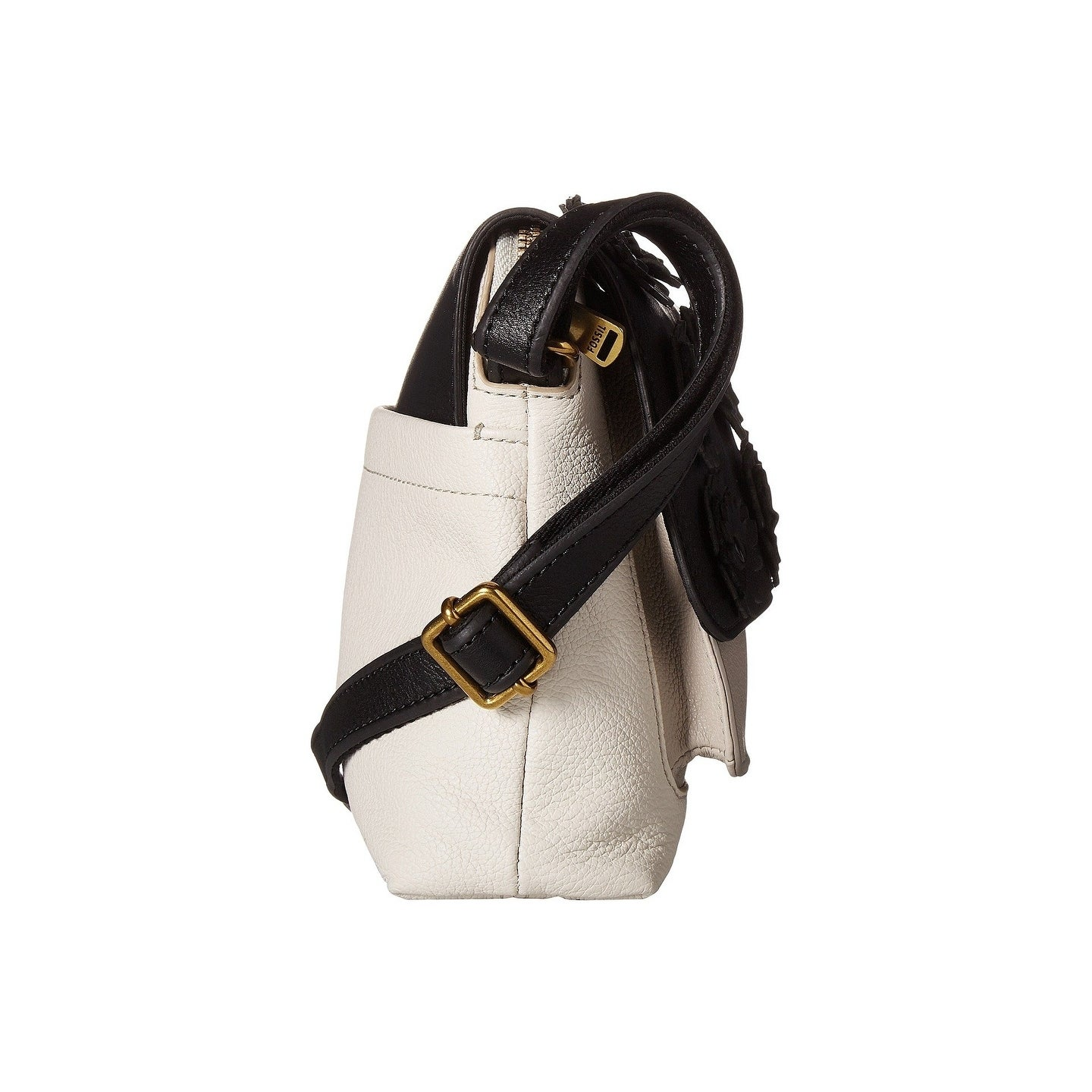 Shop Fossil Kinley Small Crossbody White Black On Sale Free Brown Shipping Today 22579332