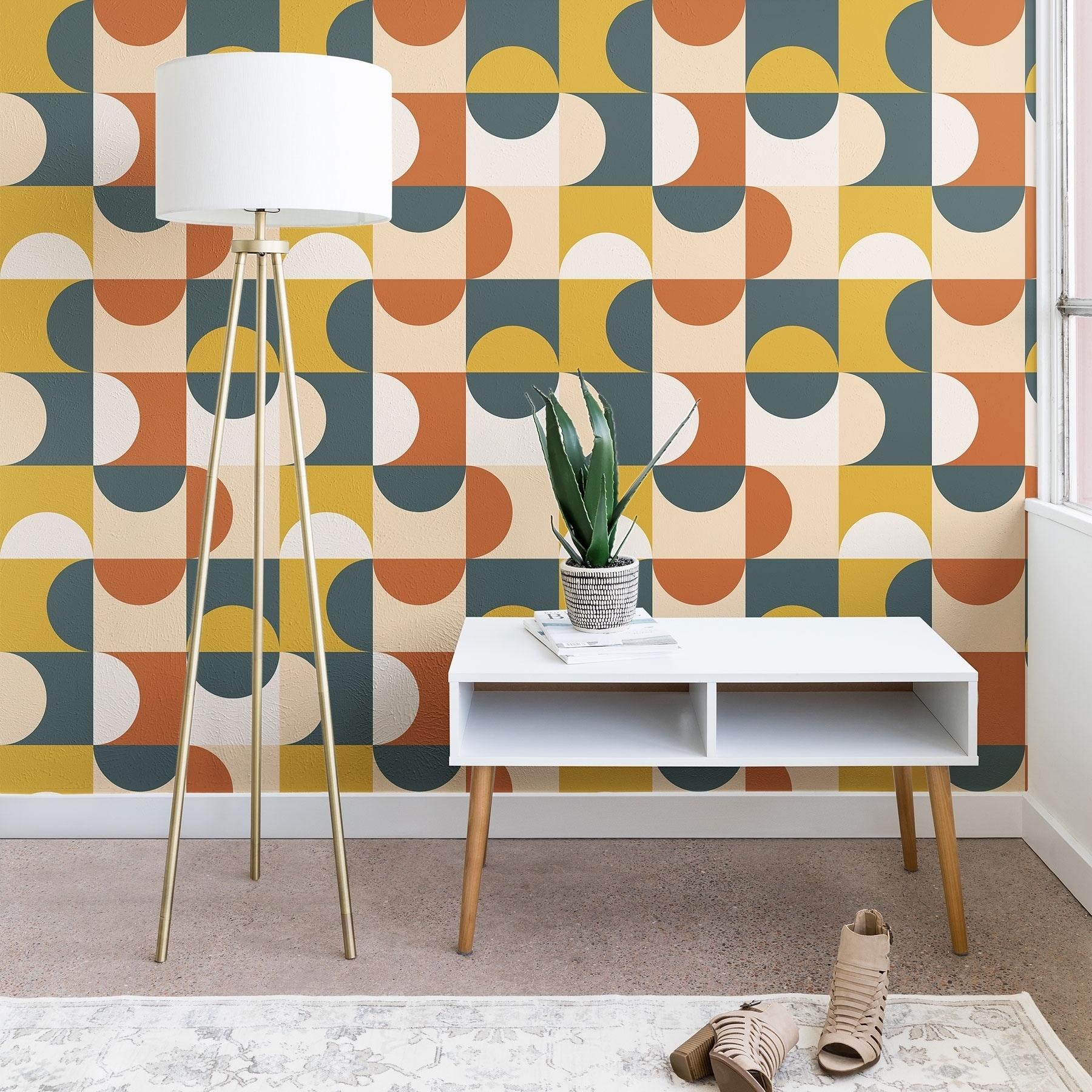 Shop The Old Art Studio Mid Century Modern Geometric 23 Wallpaper
