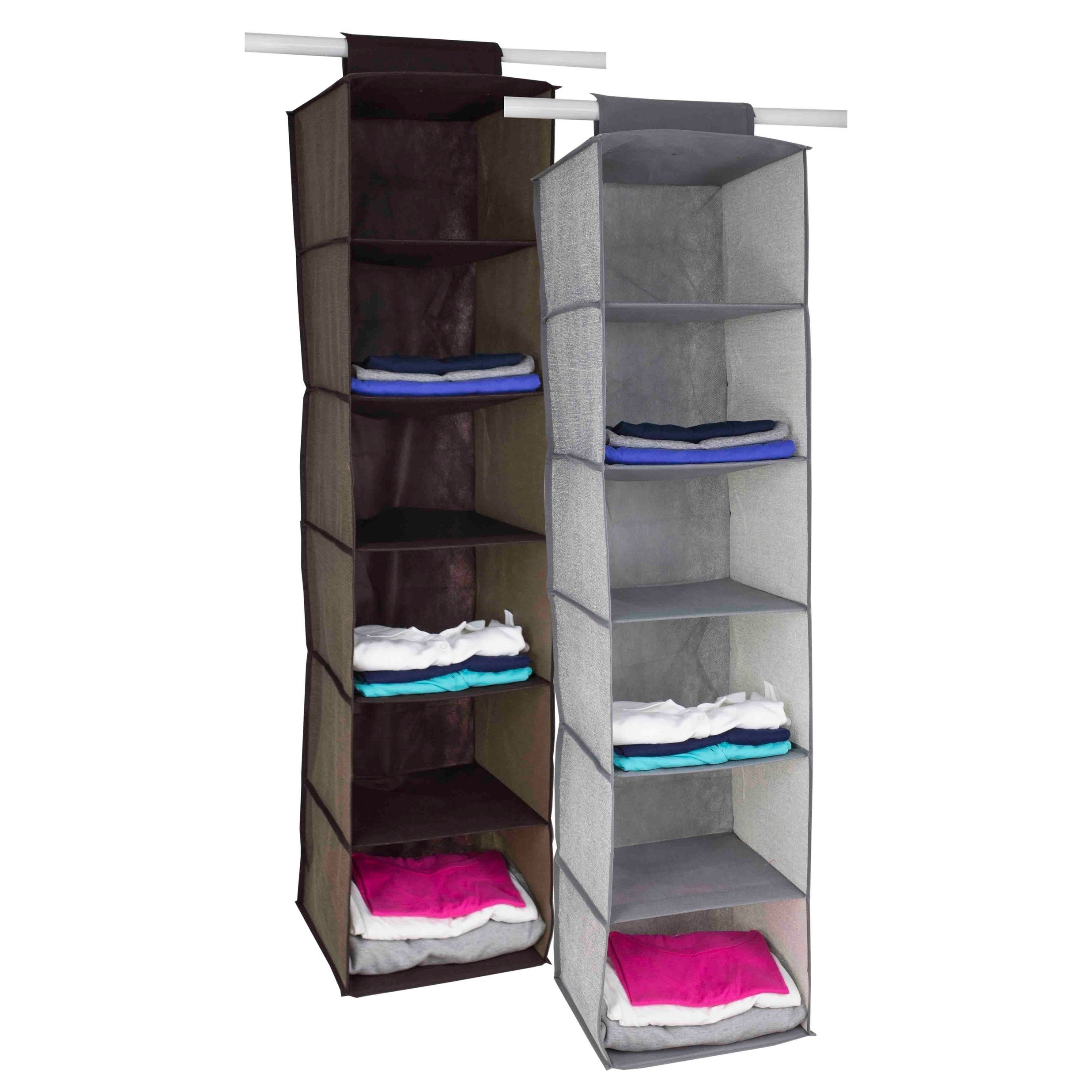 Shop Home Basics Faux Jute 6 Shelf Closet Organizer   Free Shipping On  Orders Over $45   Overstock.com   22580645