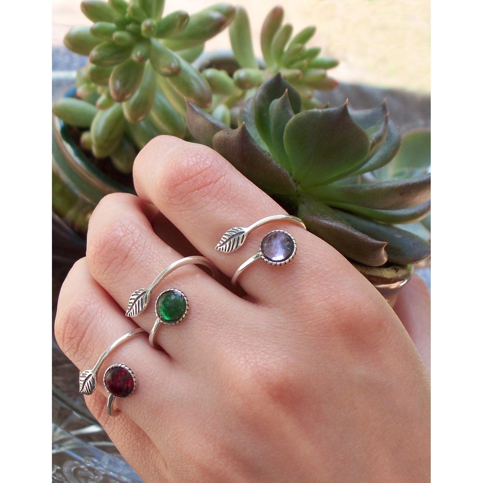 Recycled Vintage Mason Jar Sterling Silver Botanical Leaf Ring ...