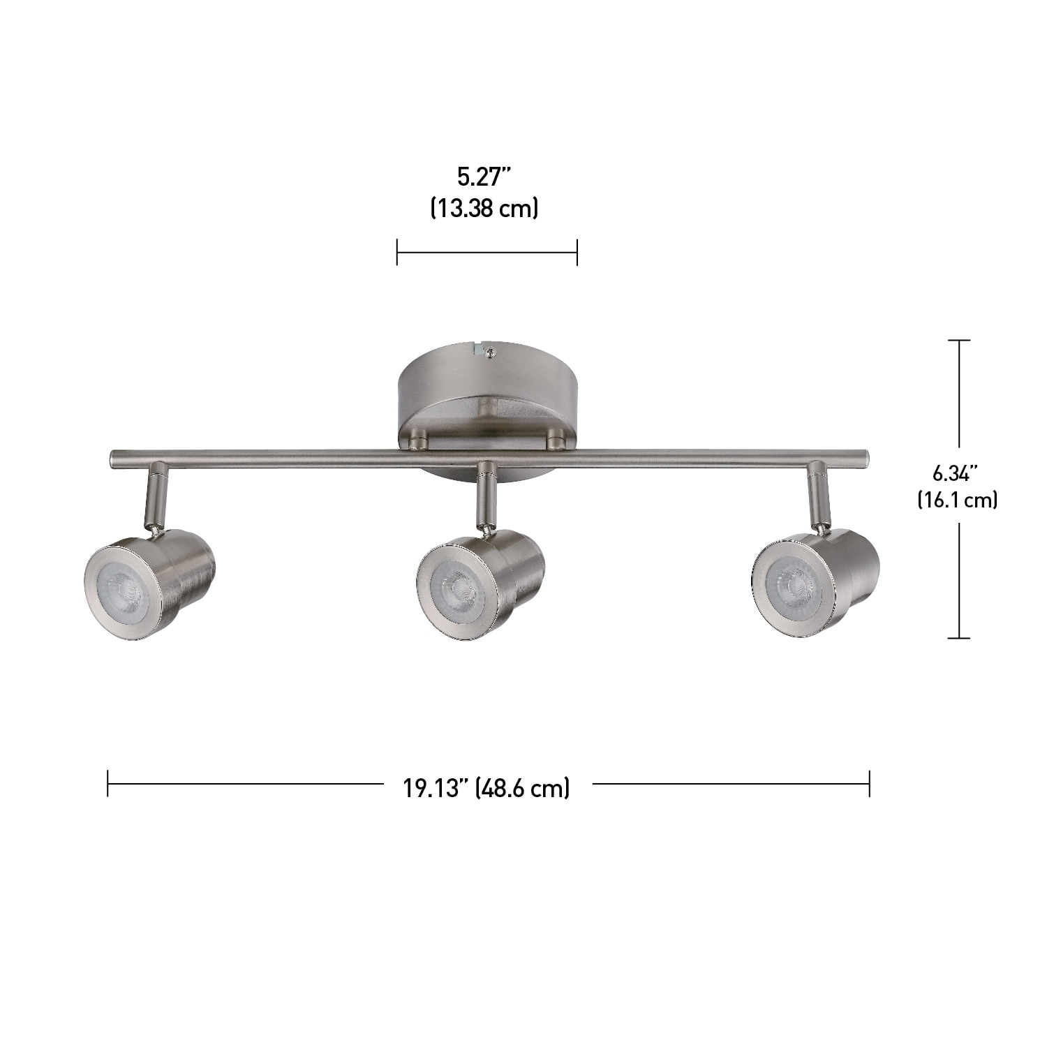 Hunter 3 light integrated led track lighting brushed nickel free hunter 3 light integrated led track lighting brushed nickel free shipping today overstock 28205305 mozeypictures