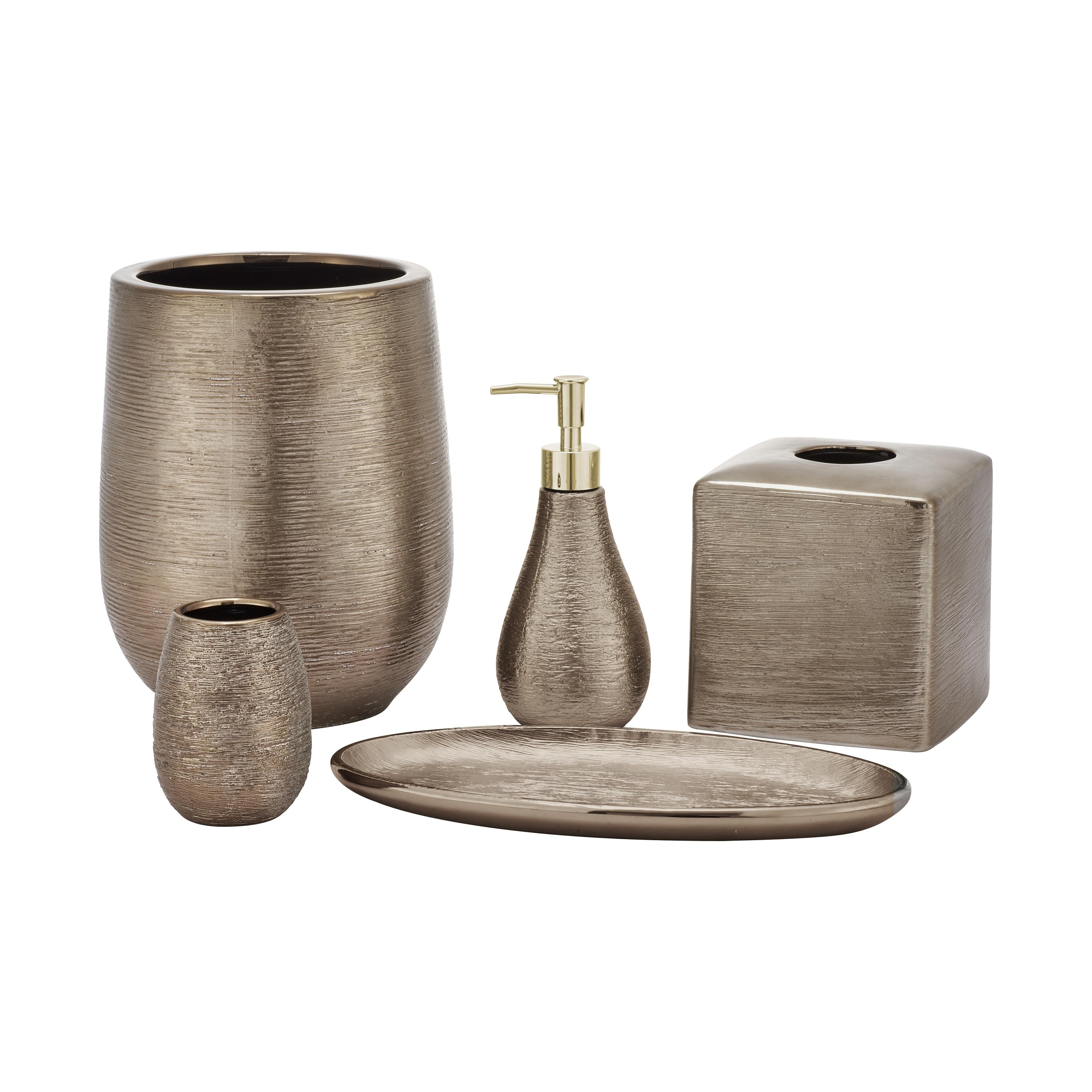Shop five queens court priscilla bronze stoneware bathroom accessories free shipping today overstock com 22612279