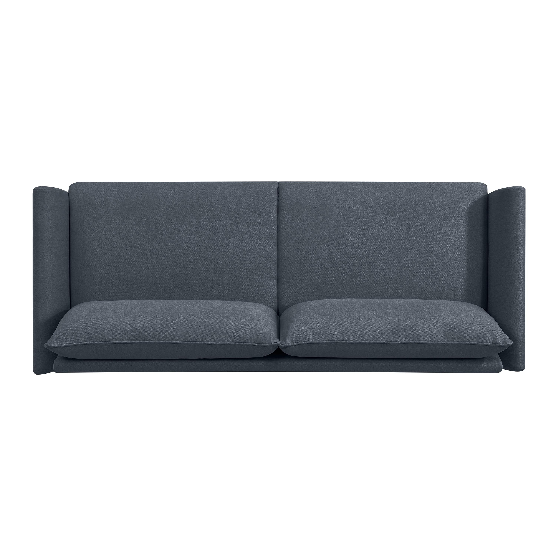 Bon Shop Handy Living Denver Medium Blue Velvet Sofa   On Sale   Free Shipping  Today   Overstock.com   22612403