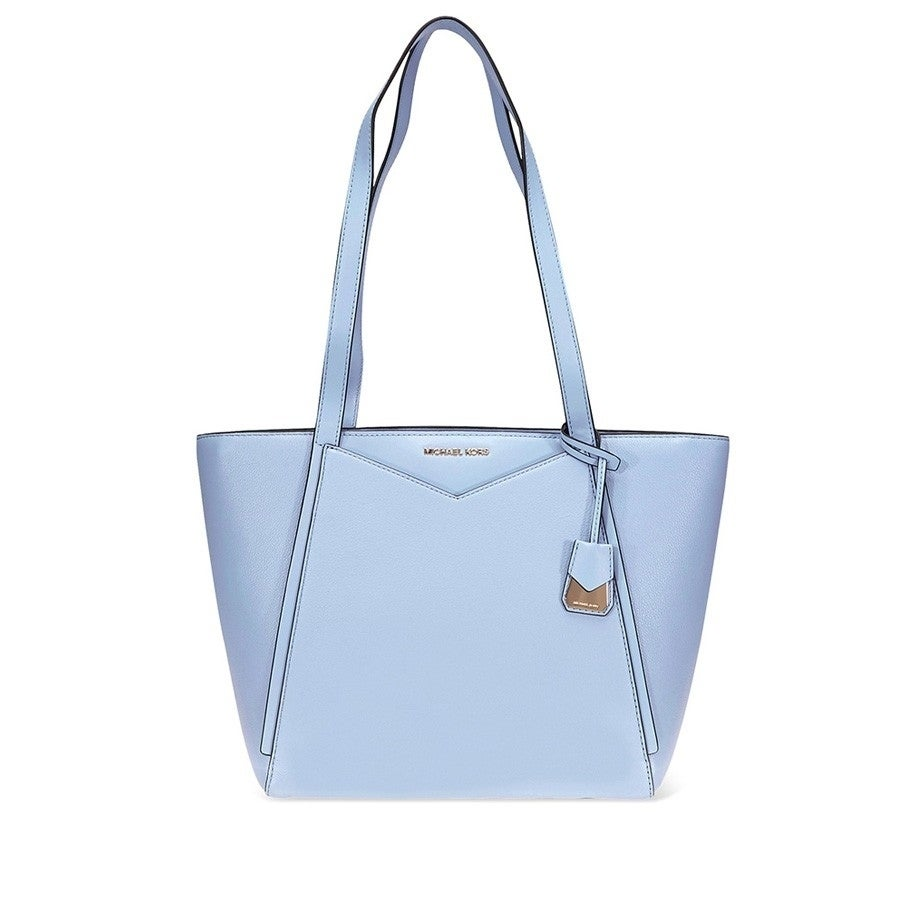 d024e7c65635 Shop MICHAEL Michael Kors Whitney Small Pebbled Leather Tote Pale Blue -  Free Shipping Today - Overstock - 22612717